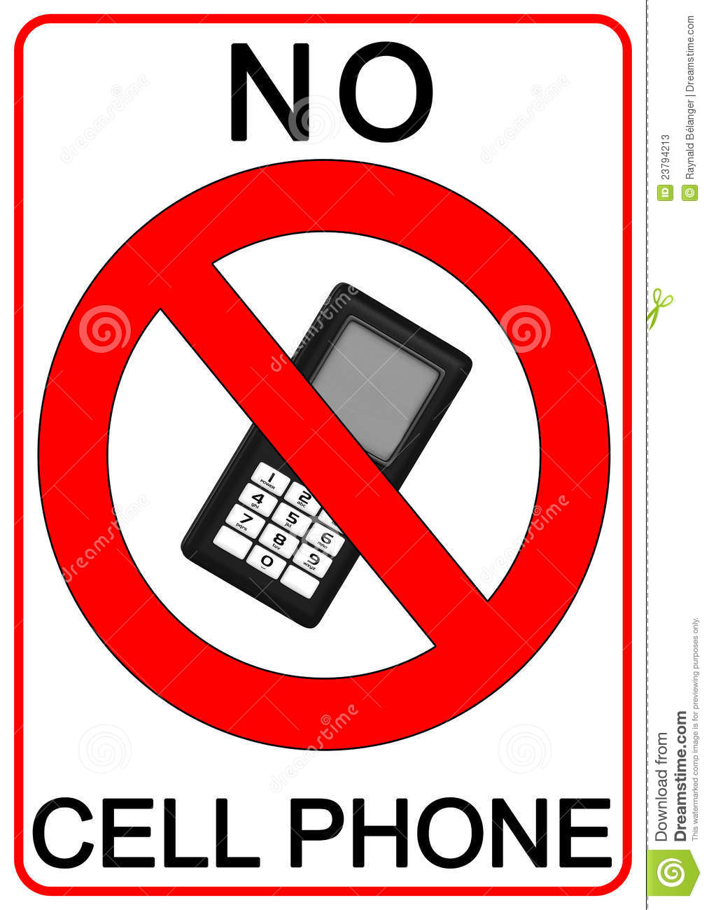 No Cell Phone Sign Stock Photos - Image: 23794213
