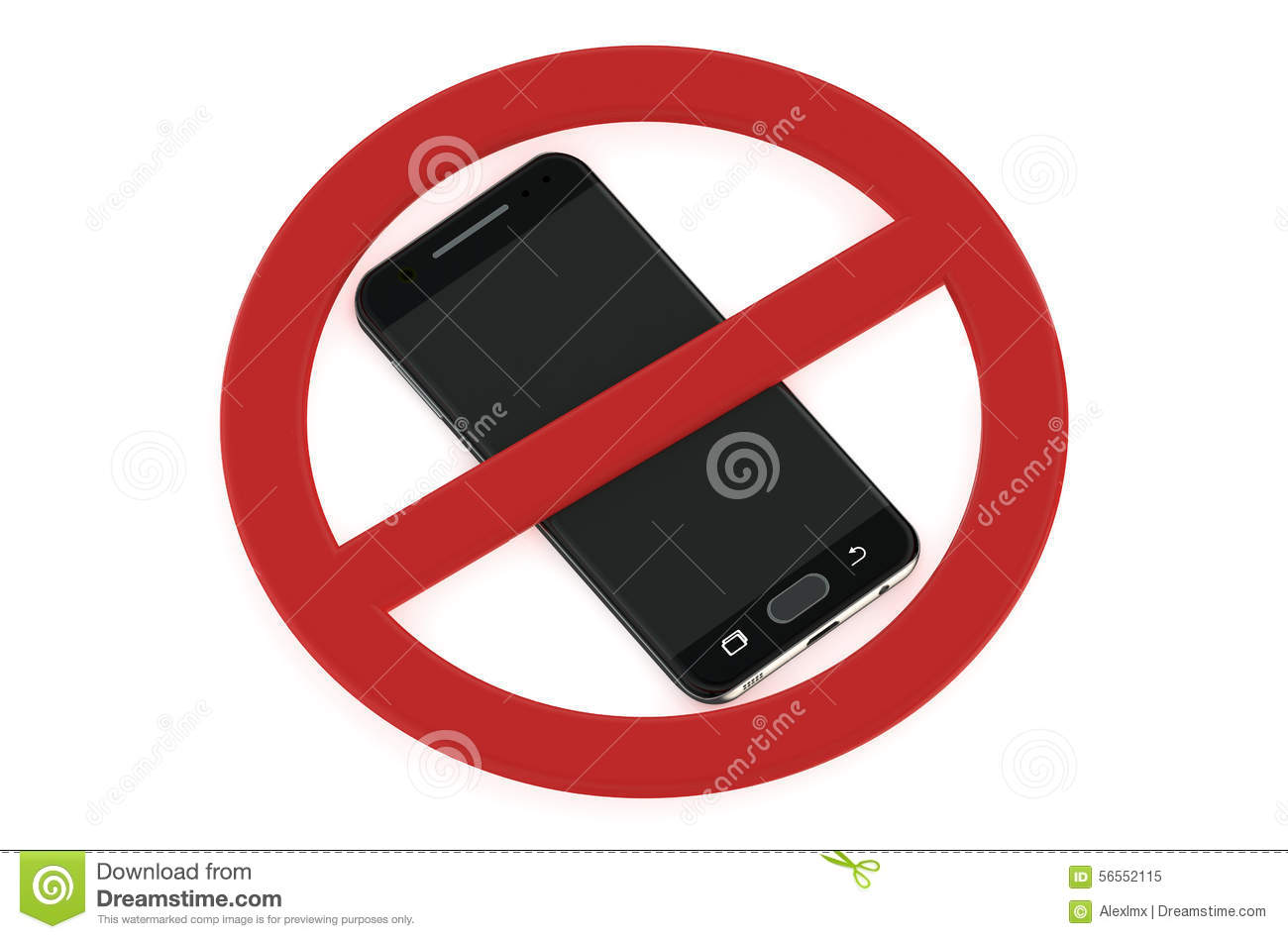 No Cell Phone Sign. Stock Vector - Image: 46170628
