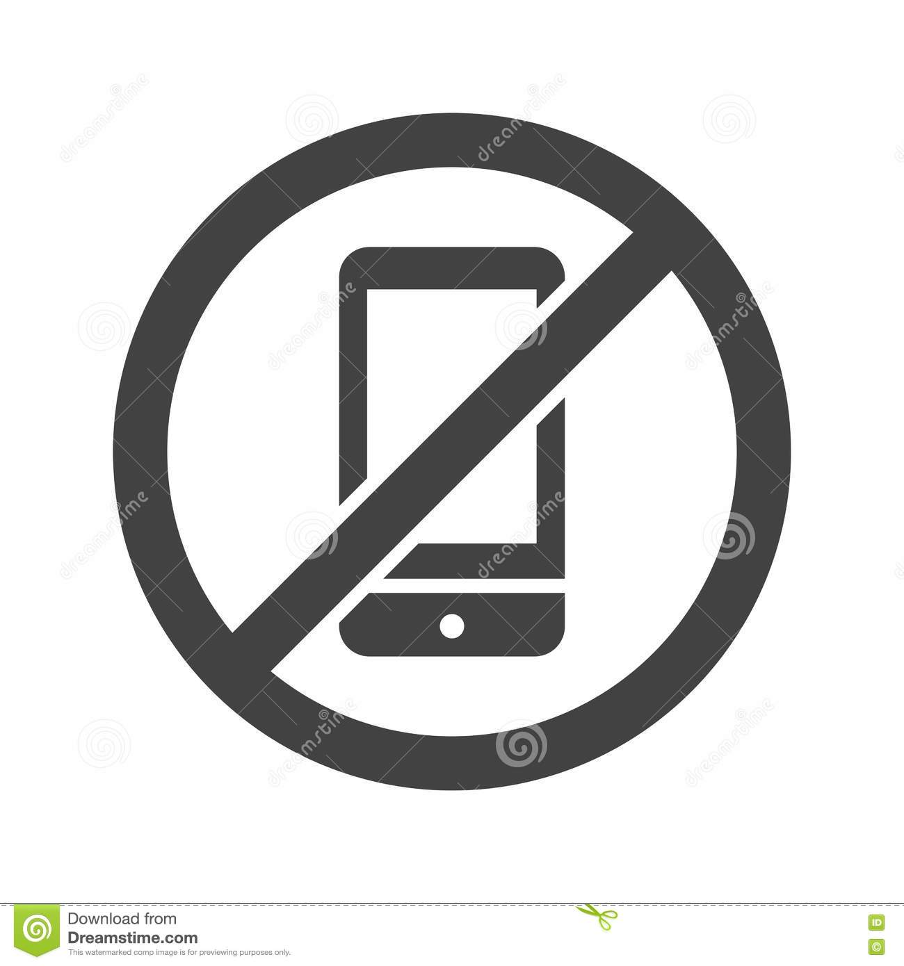 No Cell Phones Stock Vector Illustration Of Telephone 80179698