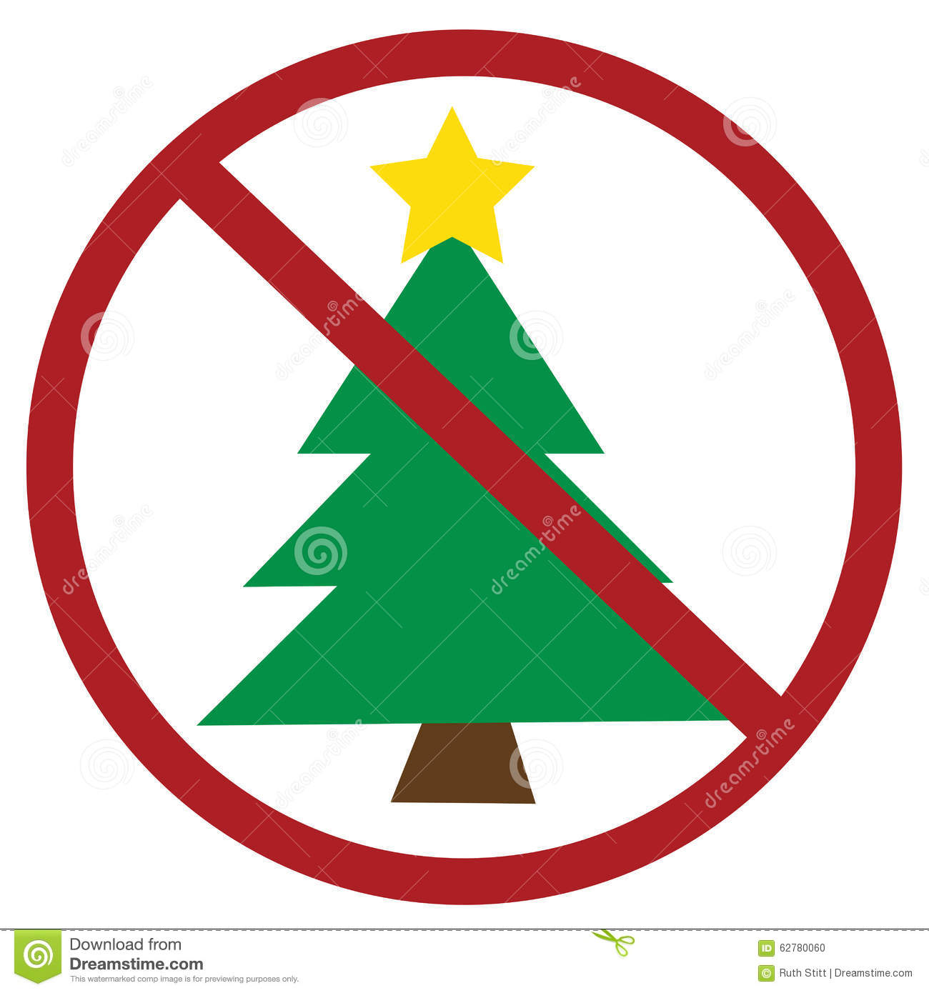 No Christmas stock vector. Illustration of illustration - 62780060