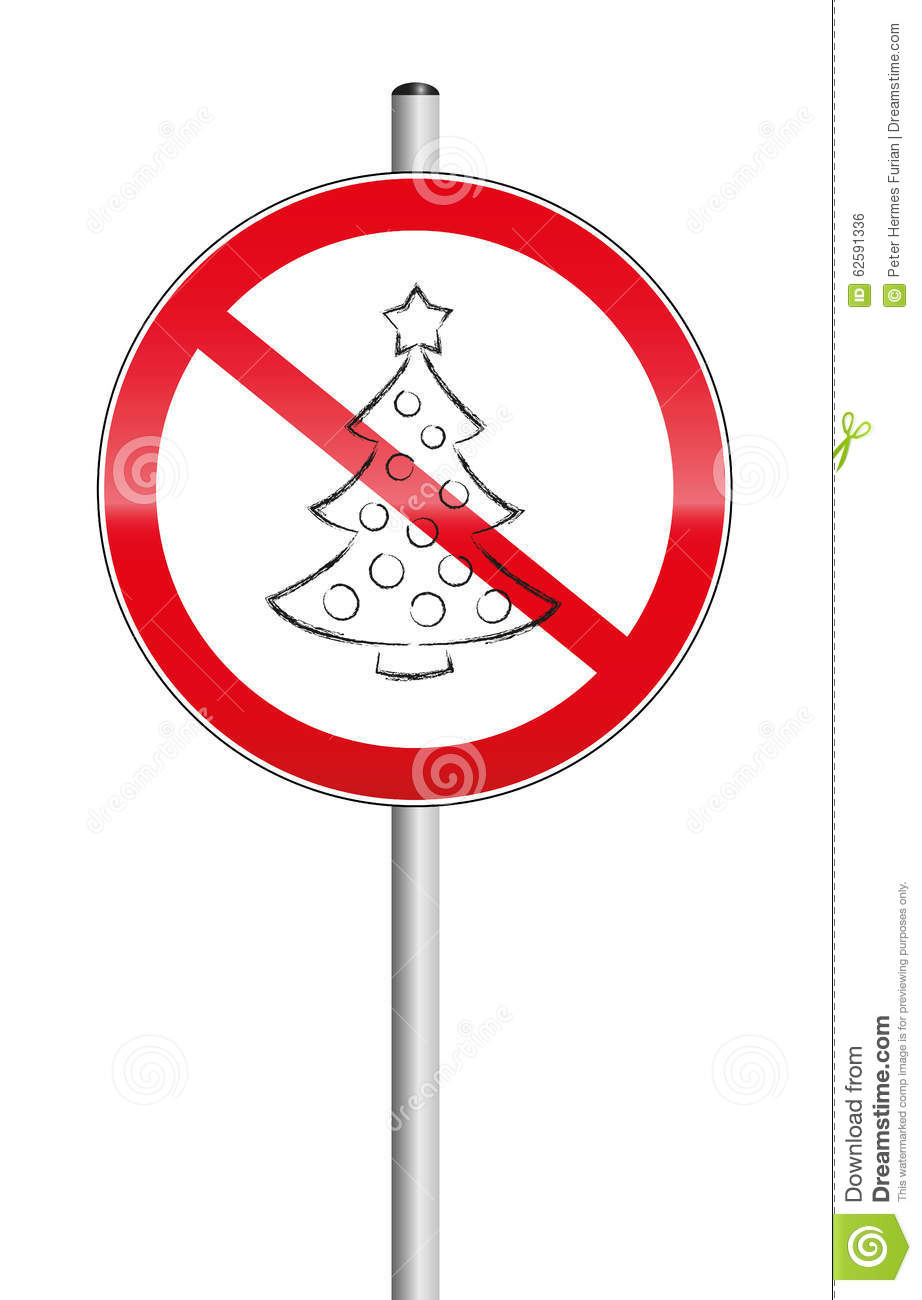 No Christmas Tree Symbol Prohibition Sign Stock Vector ...