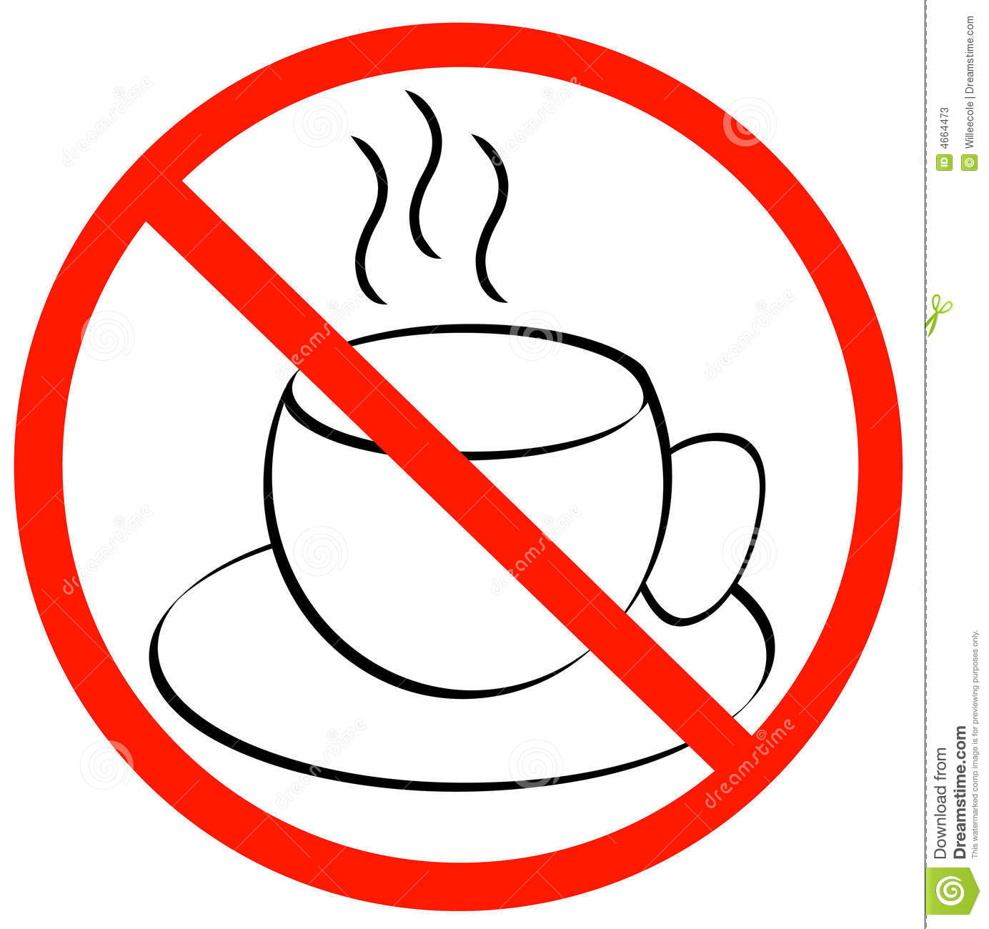 No coffee breaks - coffee mug with red with not allowed symbol ...