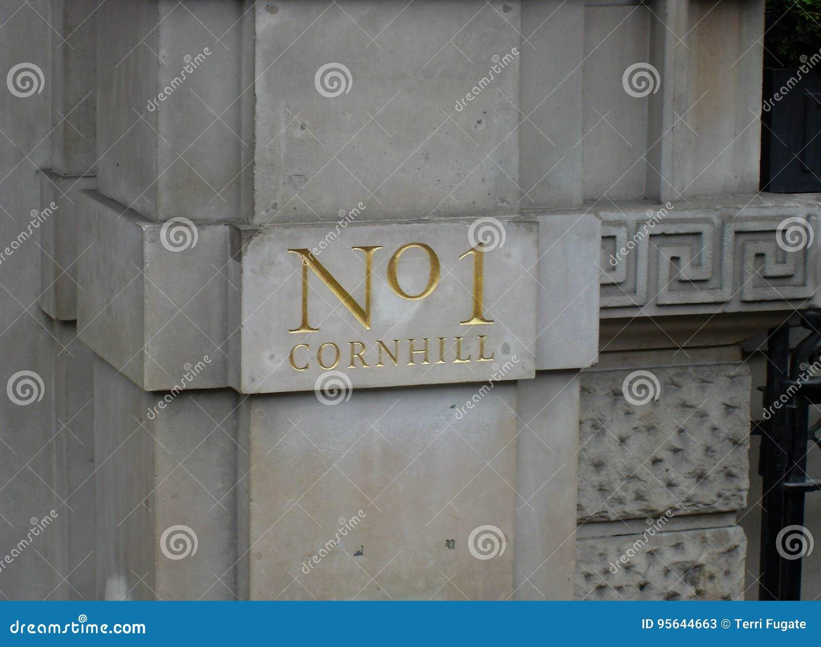 No  1 Cornhill editorial stock photo  Image of address