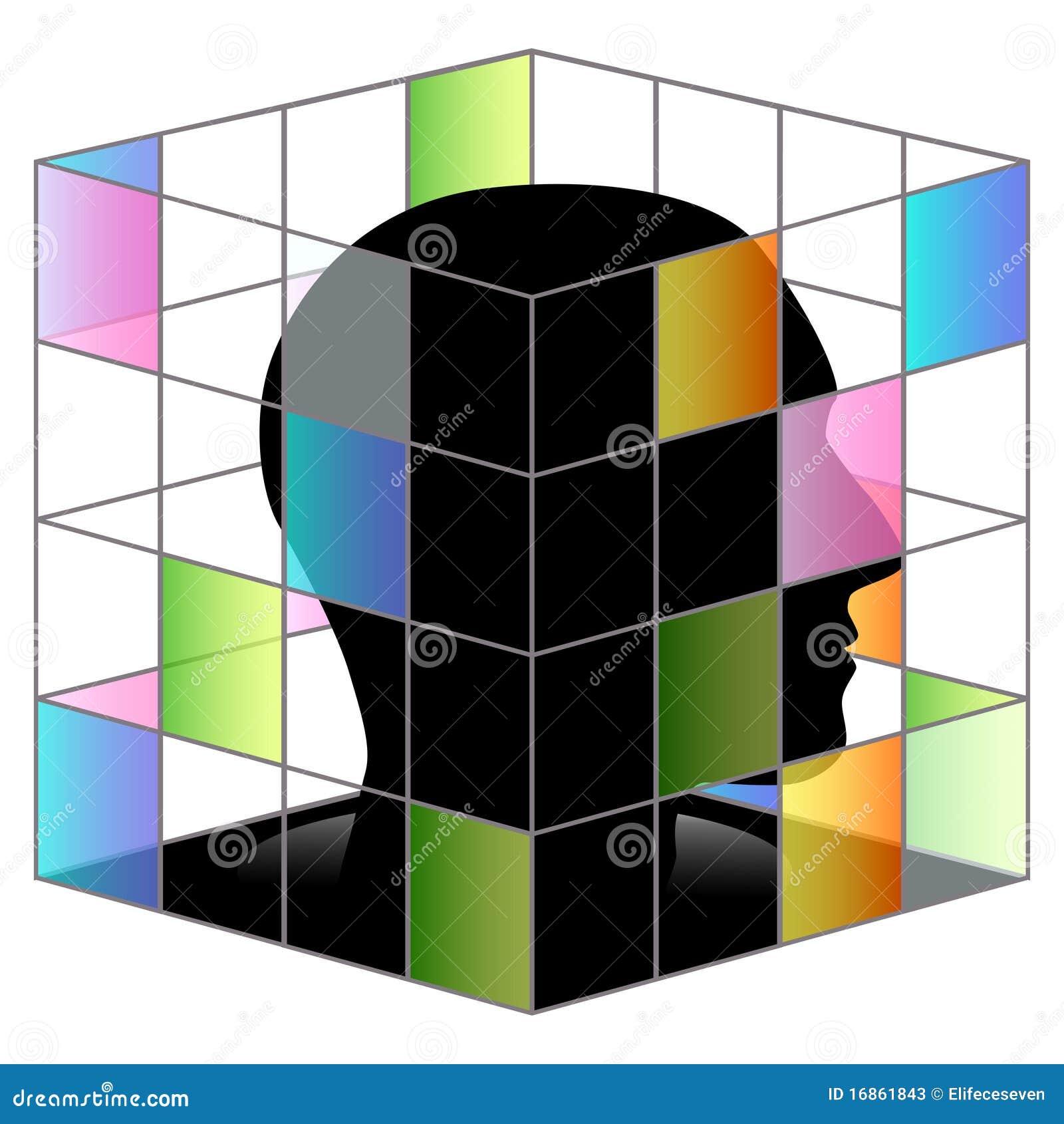 No cubo quadrado lateral
