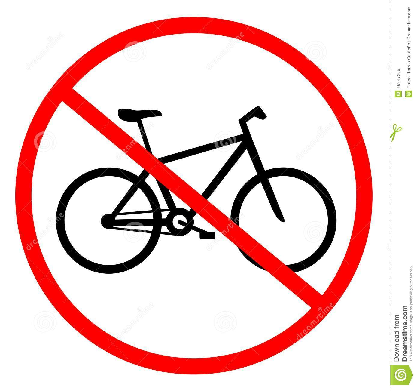No Cycling Stock Vector Image Of Access Route Pedal