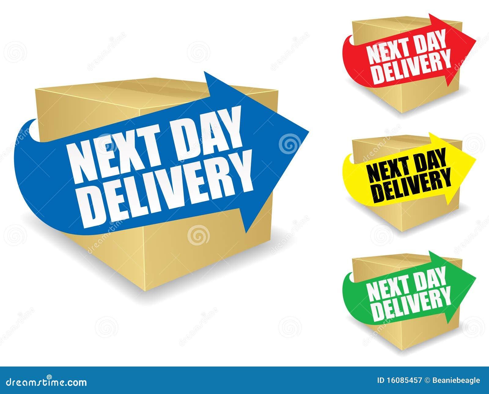 No dia seguinte ícone da entrega