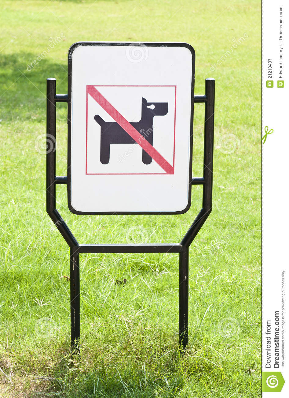 No dogs pets allowed warning sign in the park mr no pr no 0 813 0
