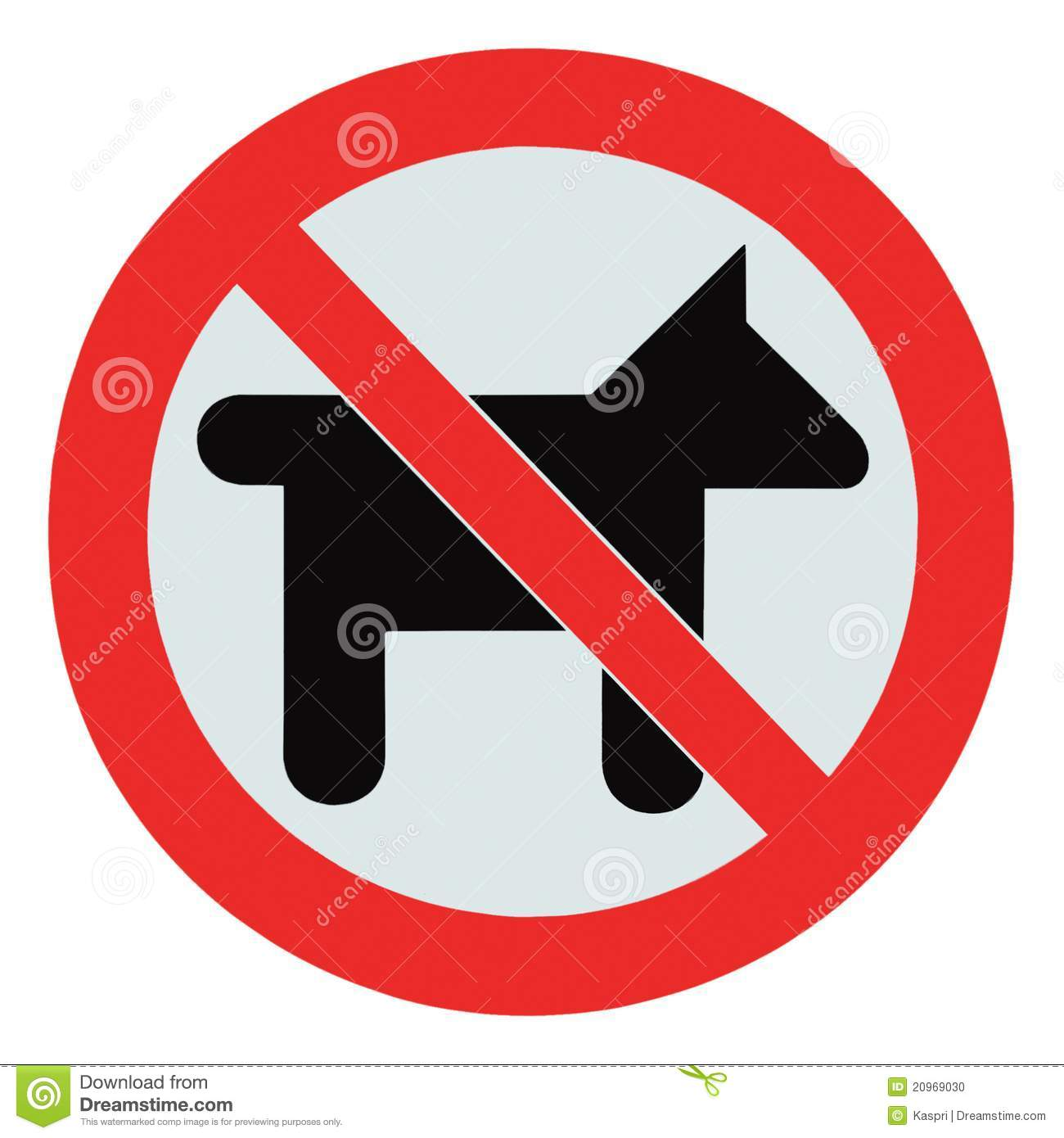 No dogs pets allowed warning sign isolated signage