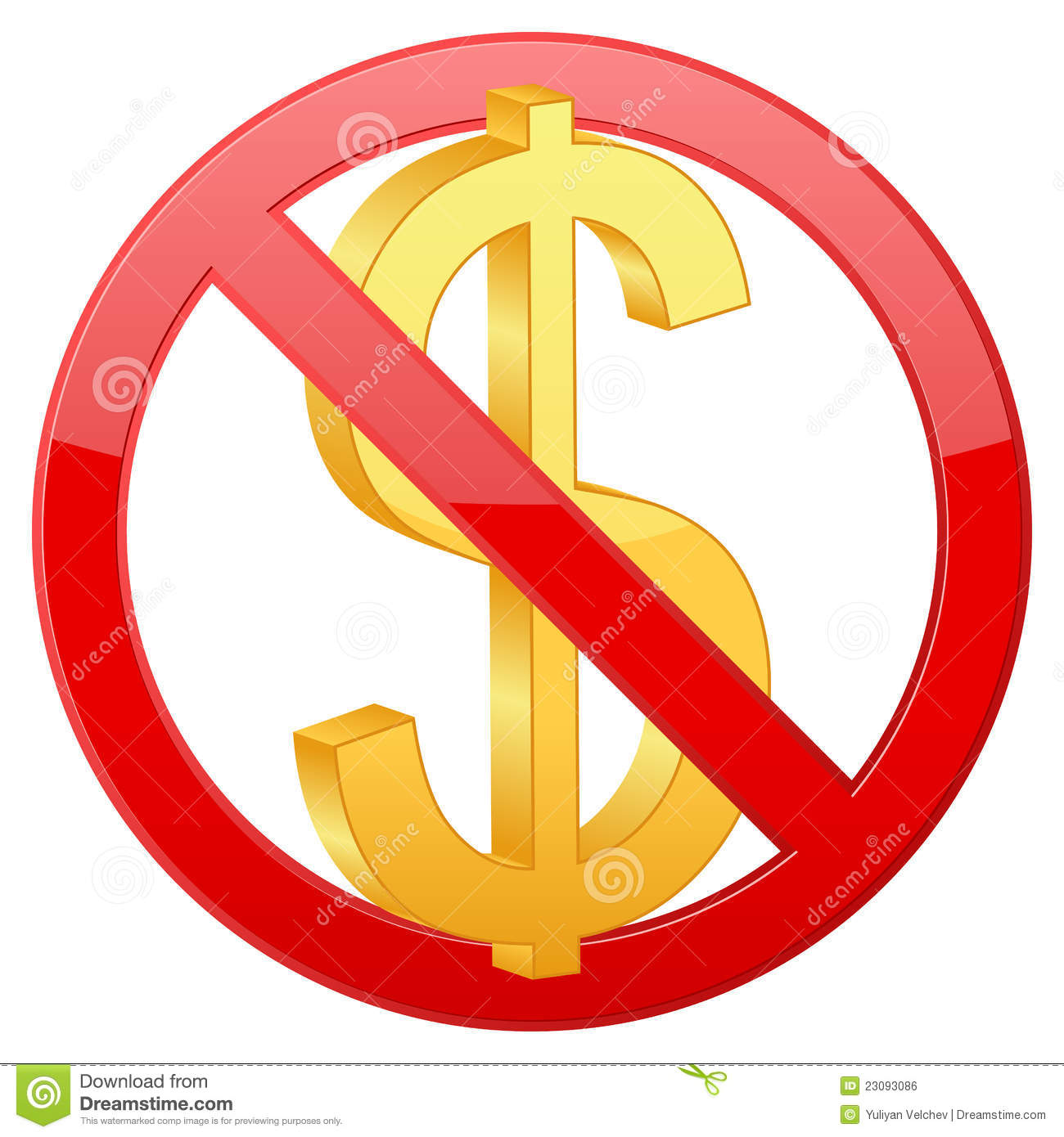 No Dollar Royalty Free Stock Image - Image: 23093086