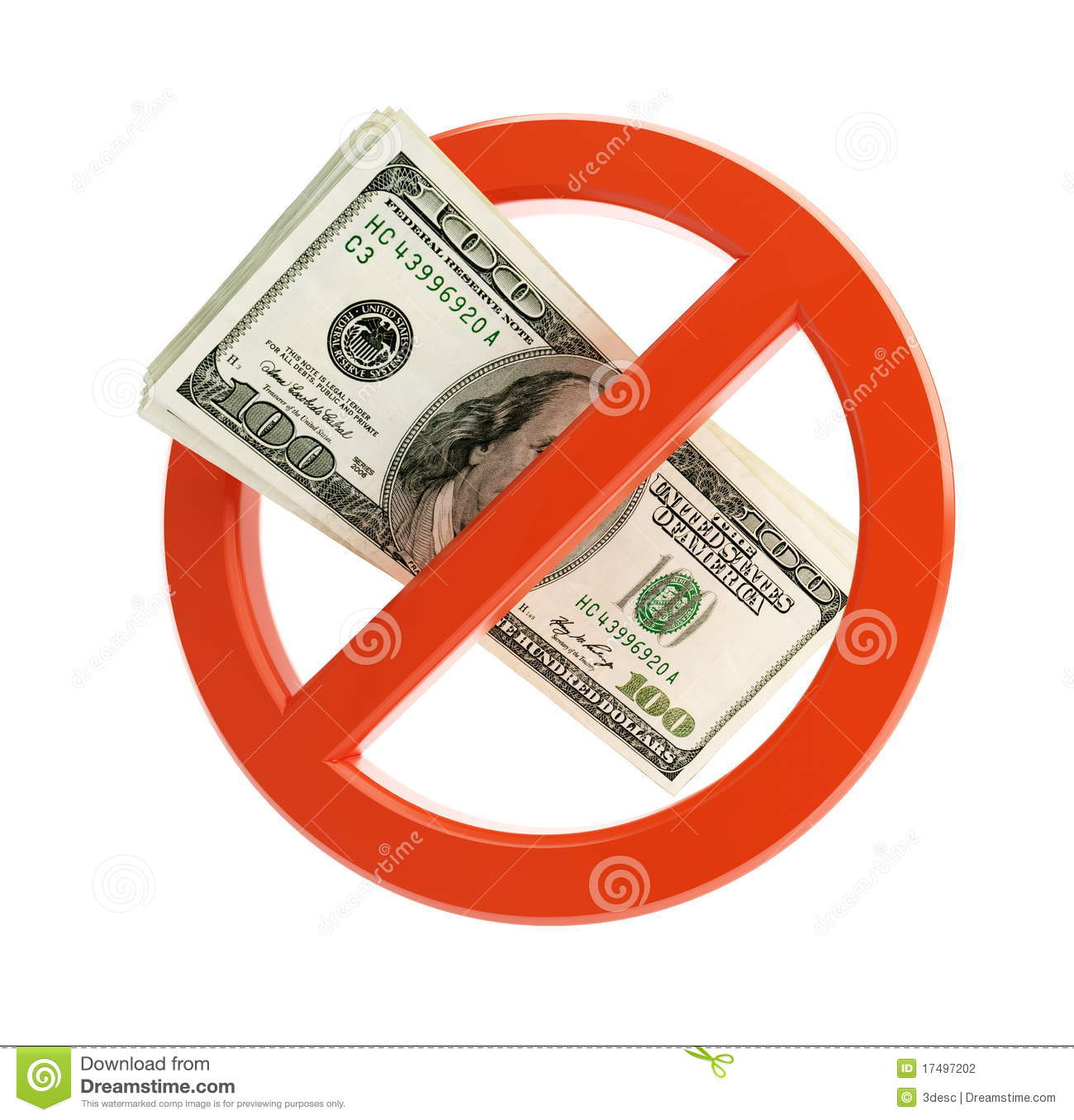 No Dollar Sign Stock Photography - Image: 17497202
