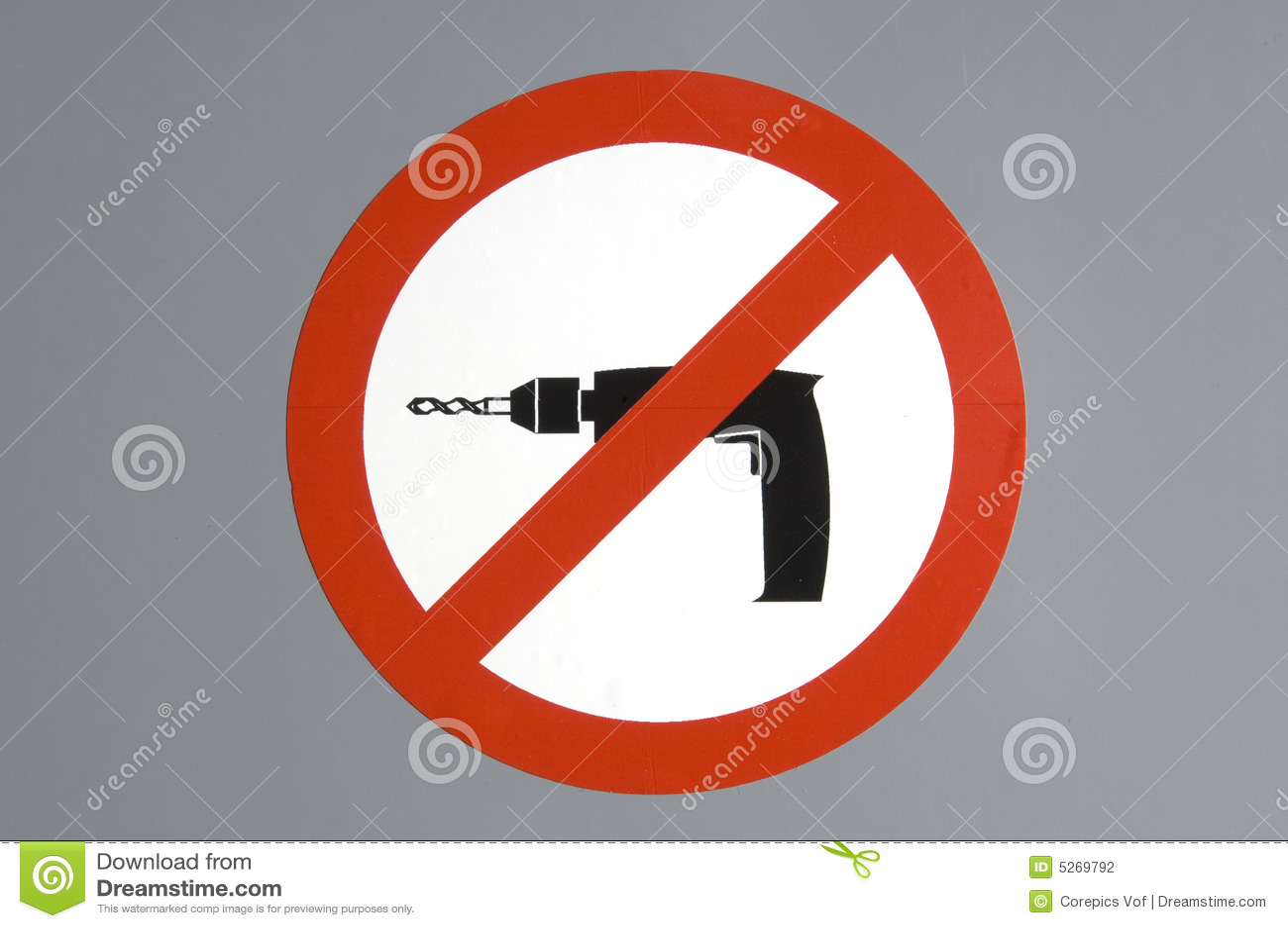 No Drilling Stock Photo Image Of White Sticker