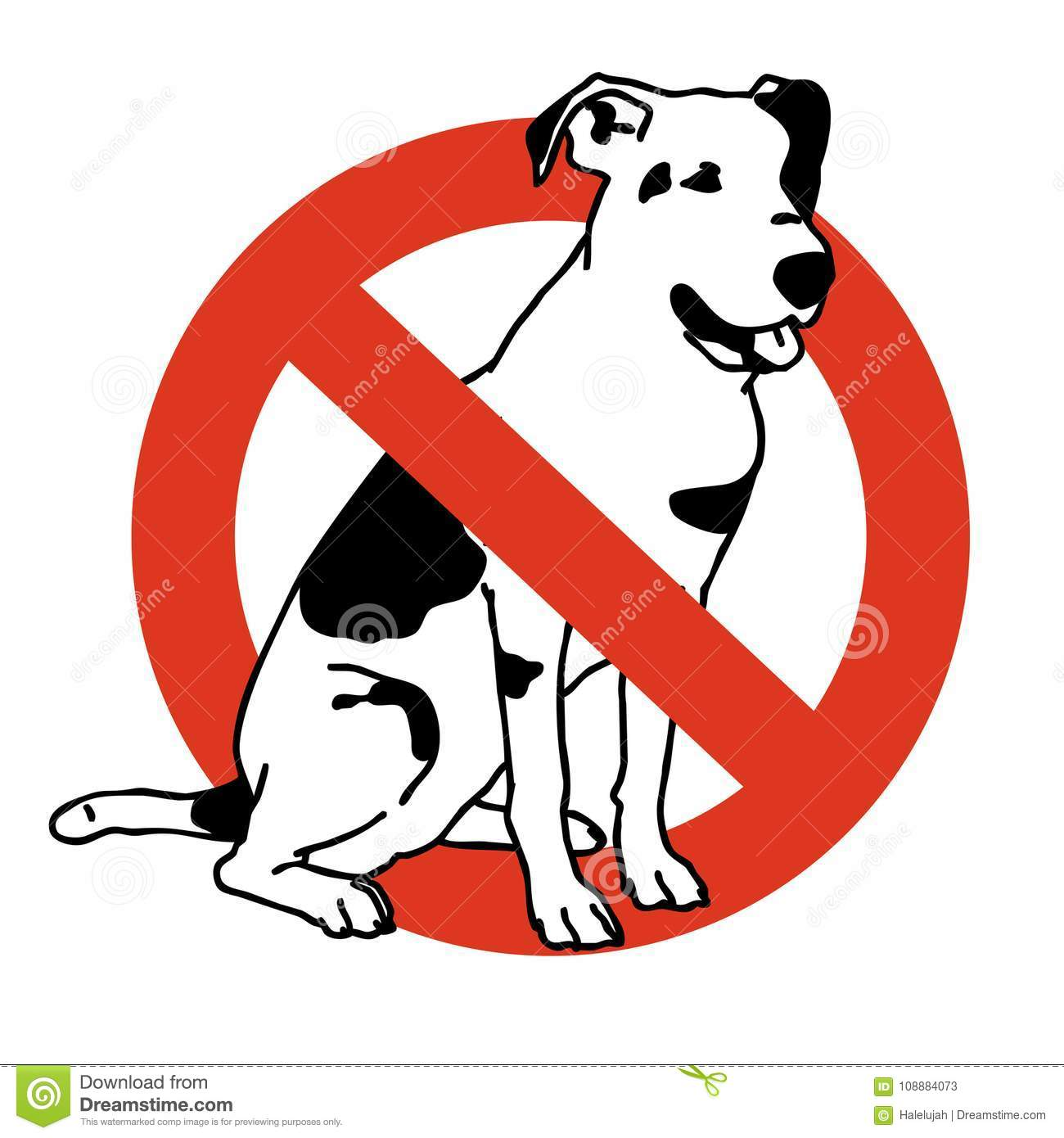 No entry dogs. Prohibition of dog. Strict ban on walking the dog, forbidden.