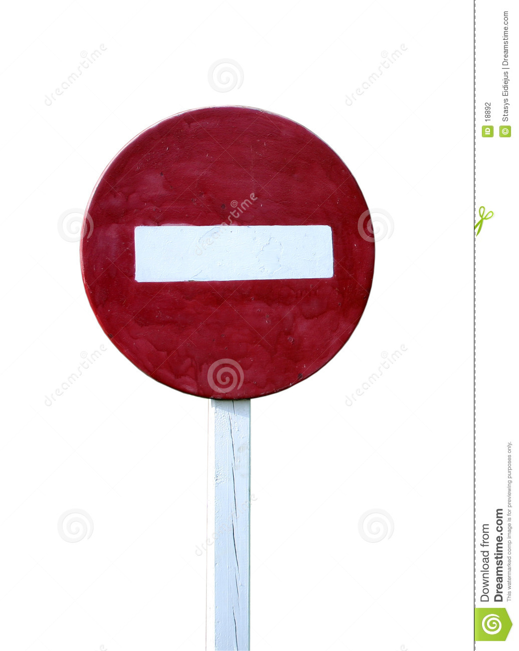 No entry sign, isolated