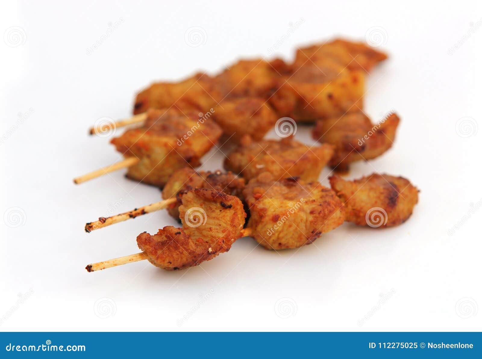 No espeto quente e picante da galinha