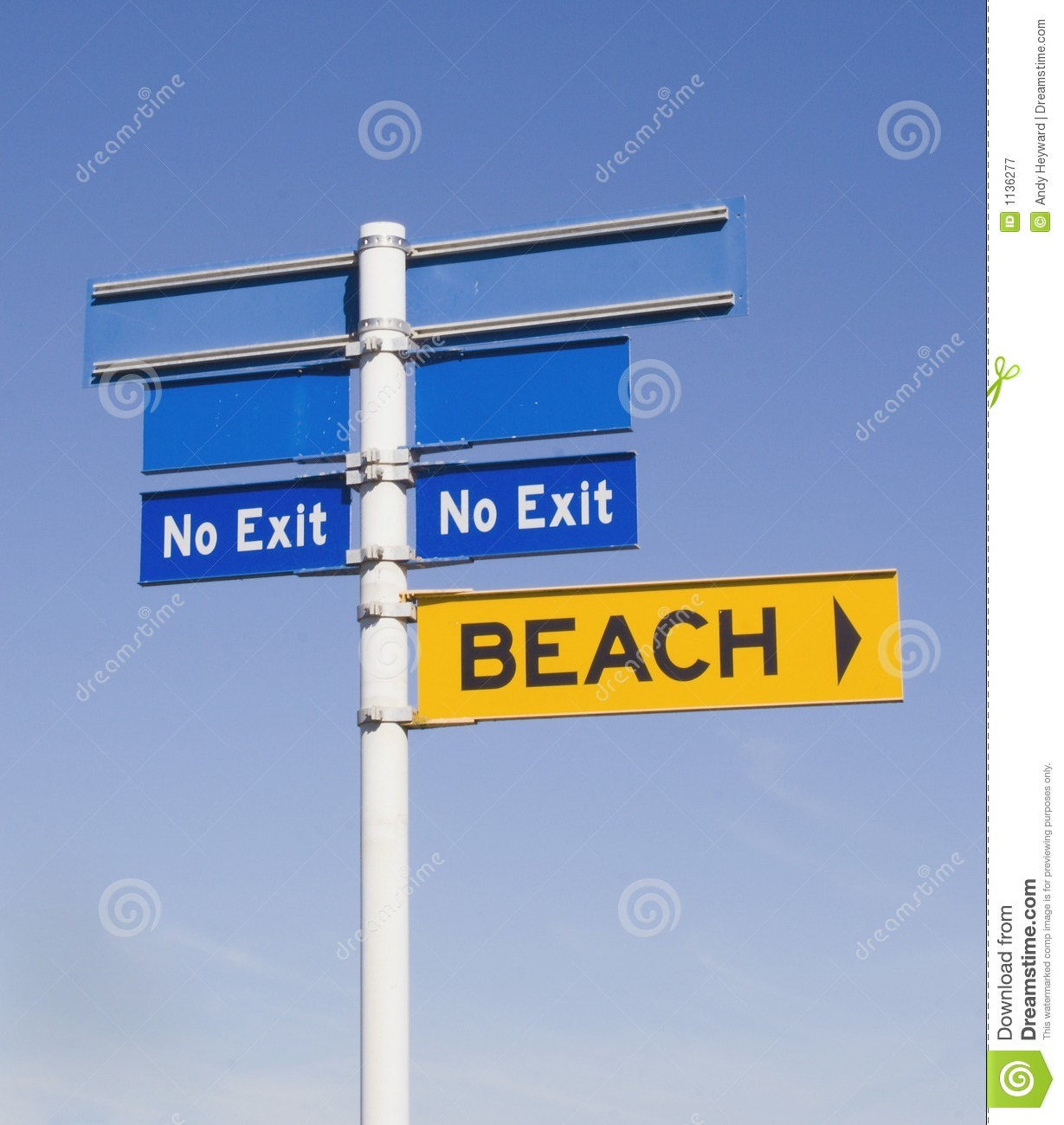 No exit from the beach