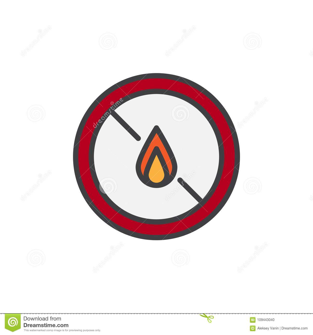 No Expose Flammable Liquids Filled Outline Icon Stock Vector