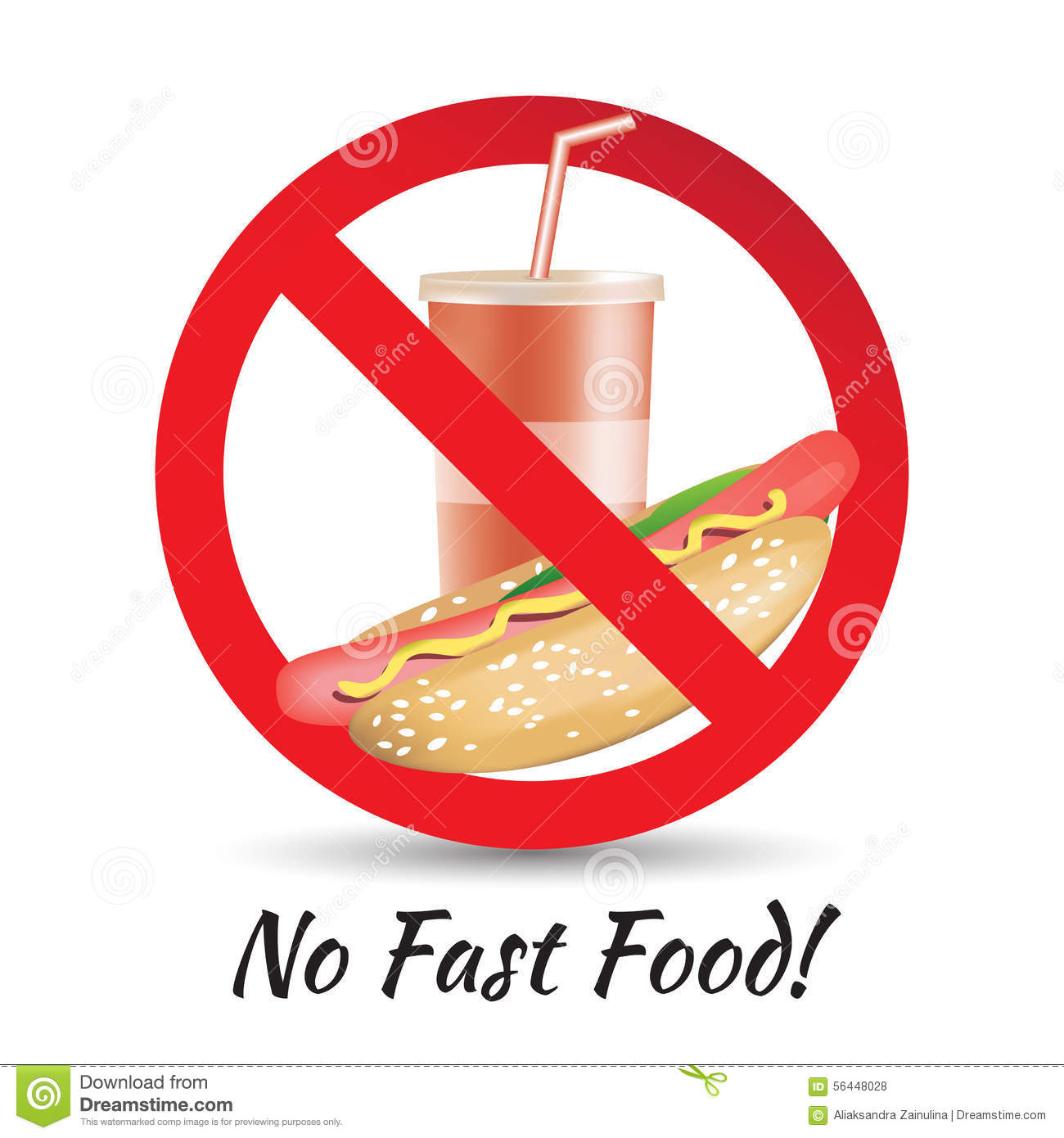 No Fast Food Stock Vector - Image: 56448028