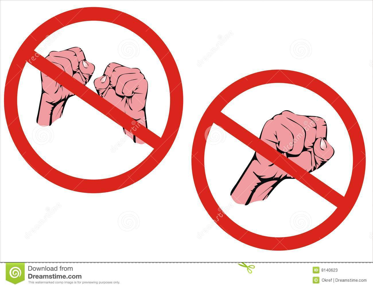 No Fighting Sign No fight  No aggression