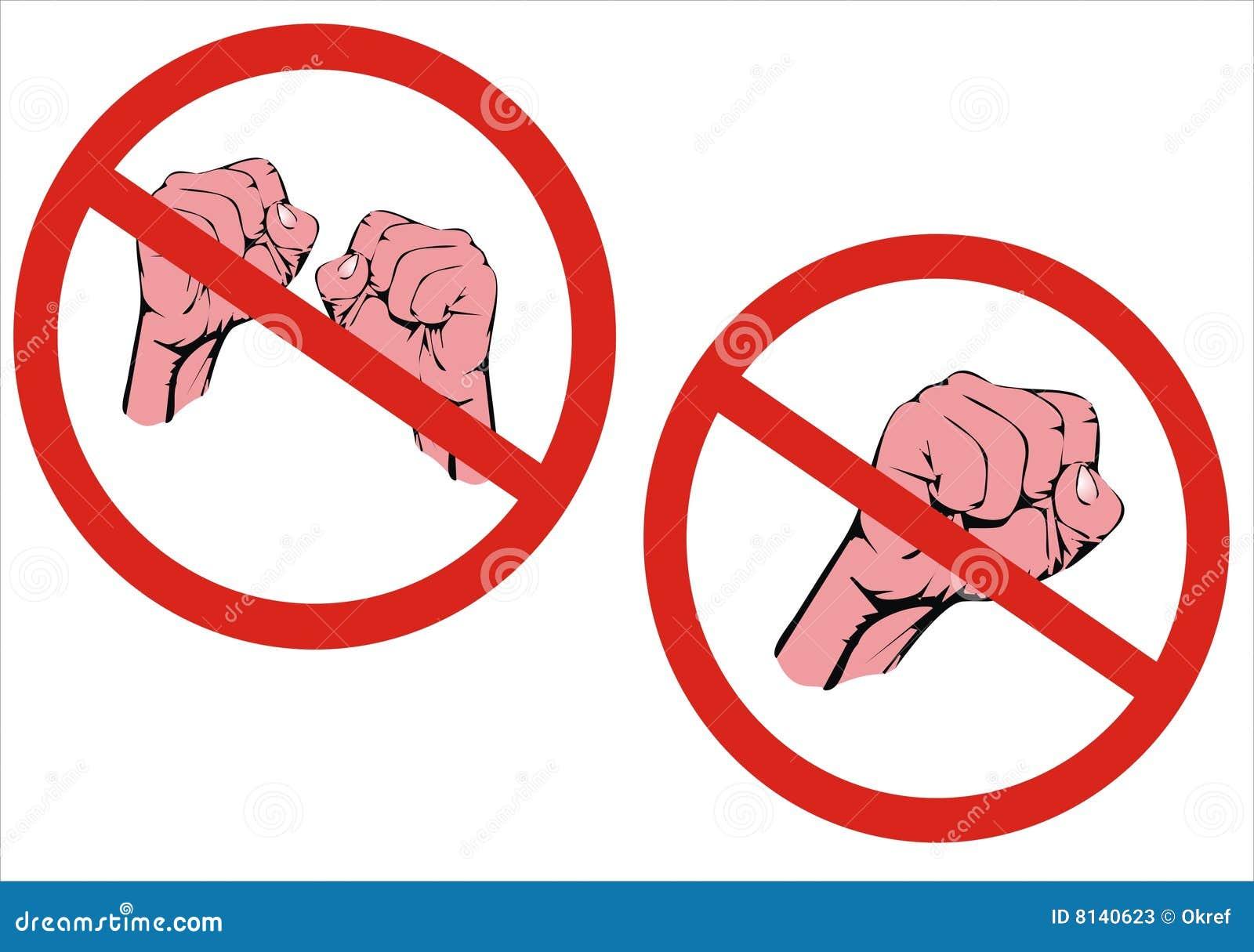 No Fighting Sign No fight  No aggression