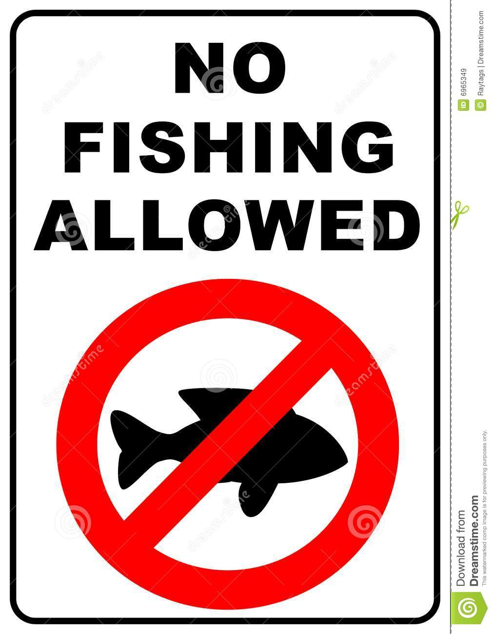 No fishing sign stock illustration image of nature hobby for Fishing times free