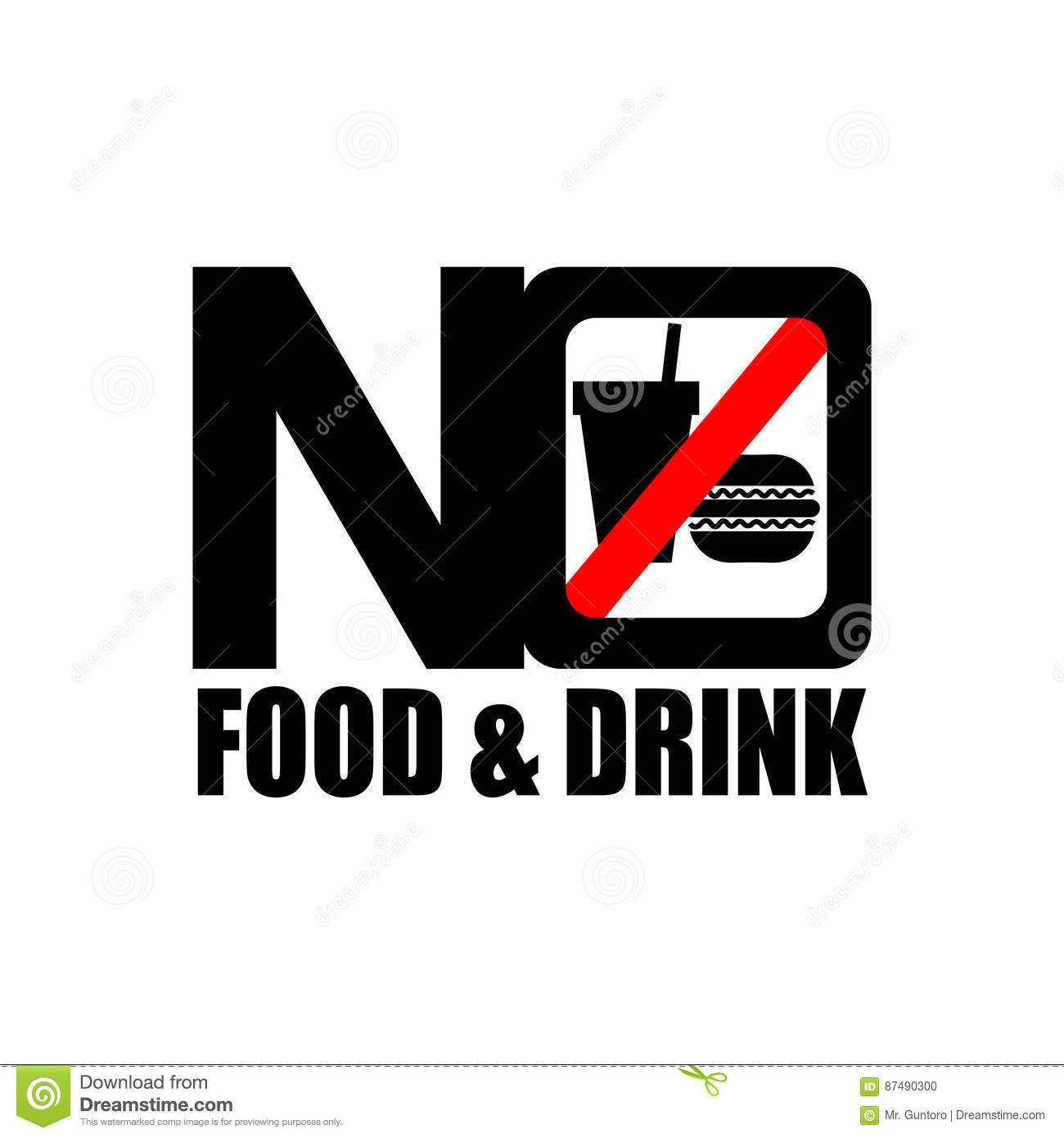 food drink icon sign inside letter slash word glass warning front forbidden preview