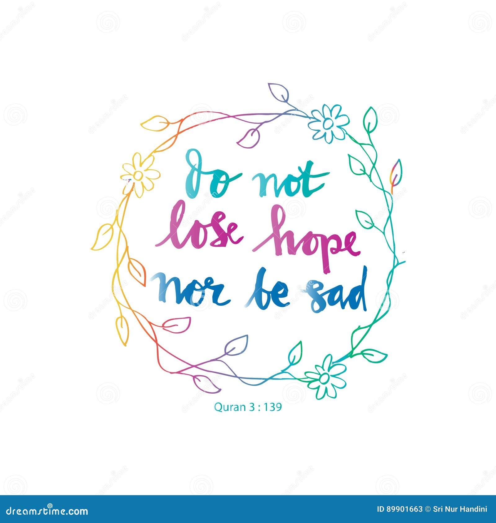 No gubi nadziei nor jest smutny
