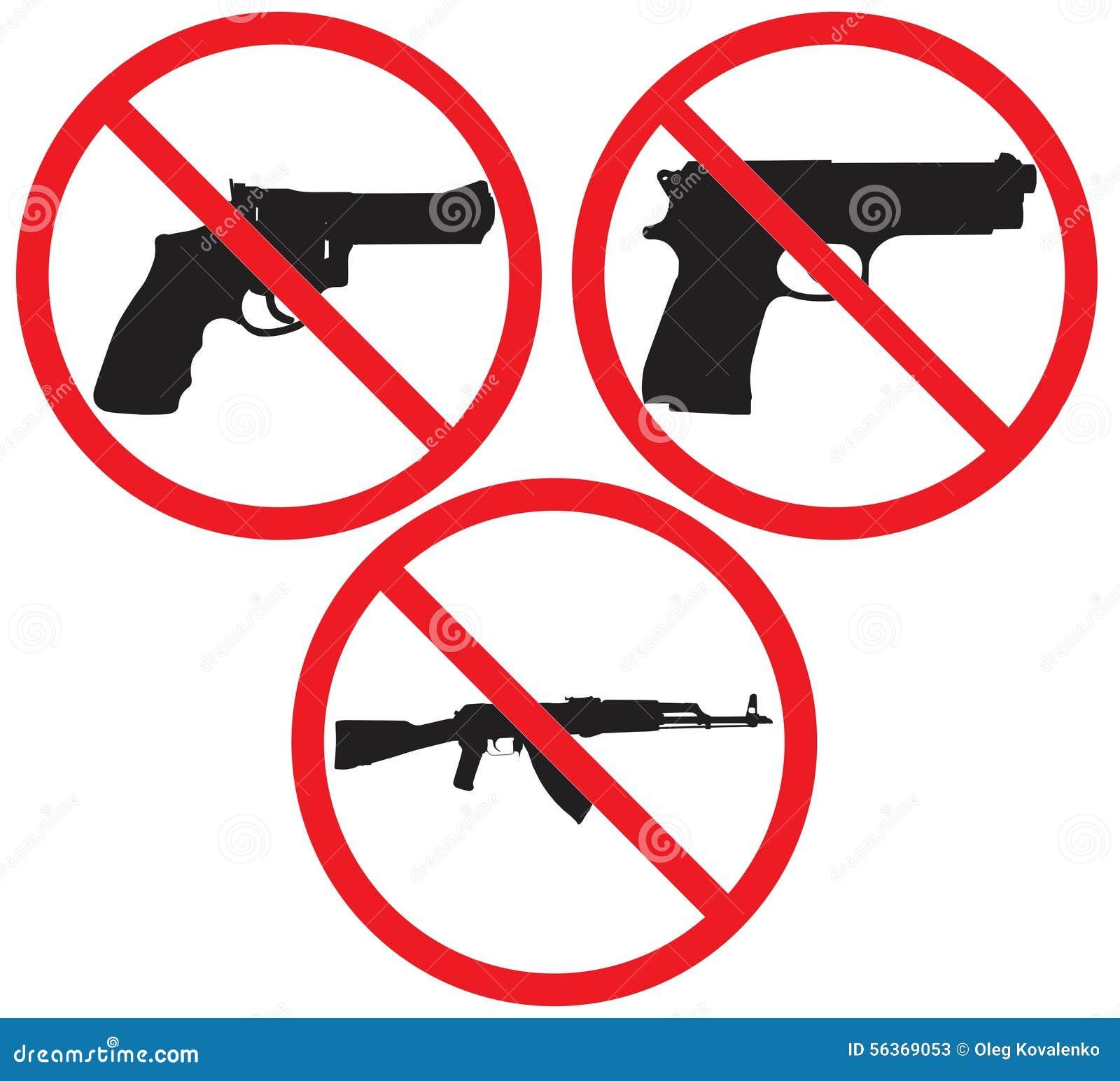 No gun sign stock vector illustration of ak47 caution 56369053 no gun sign biocorpaavc