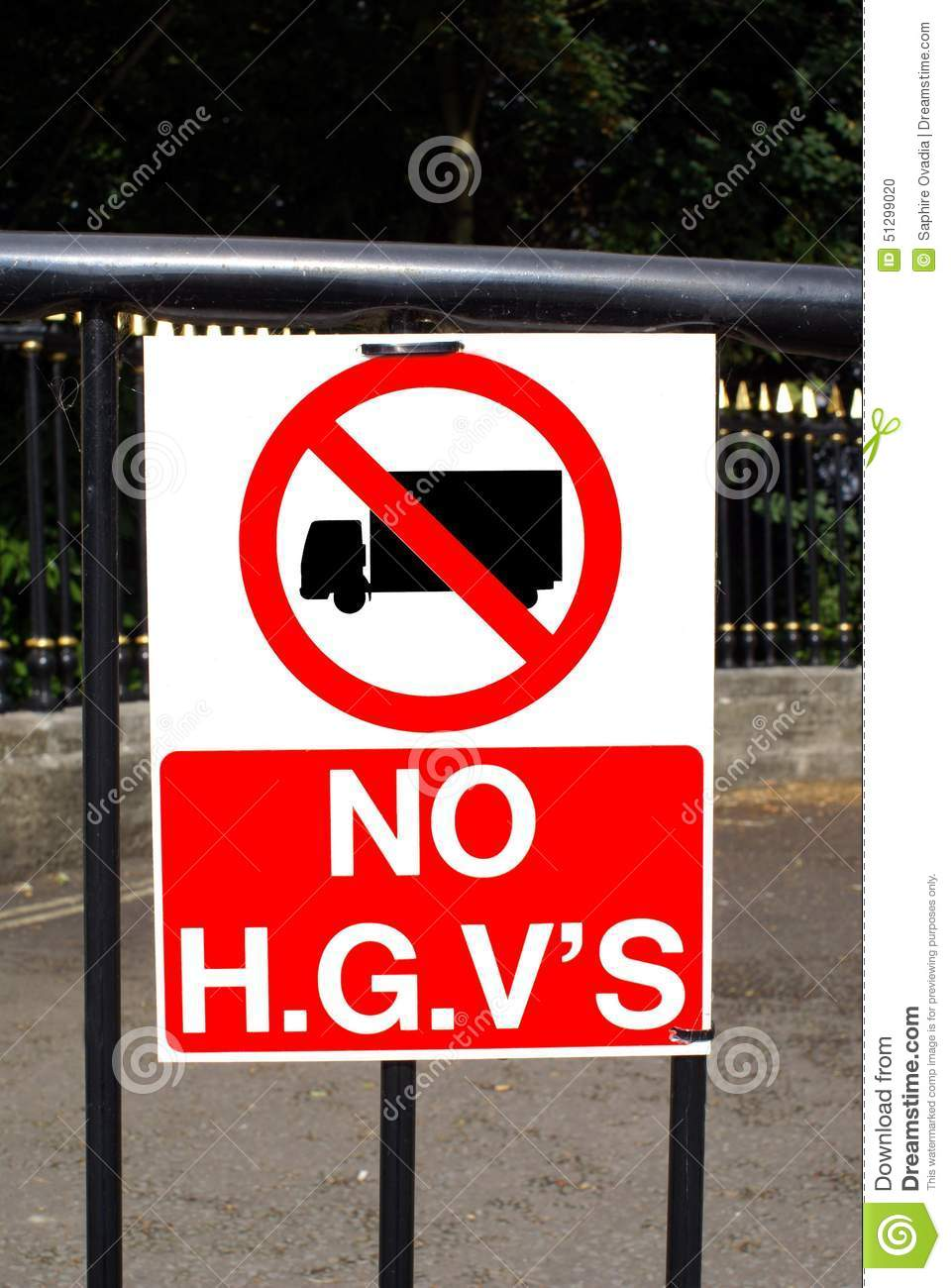 no h g v 39 s sign no entry for heavy goods lorries stock. Black Bedroom Furniture Sets. Home Design Ideas