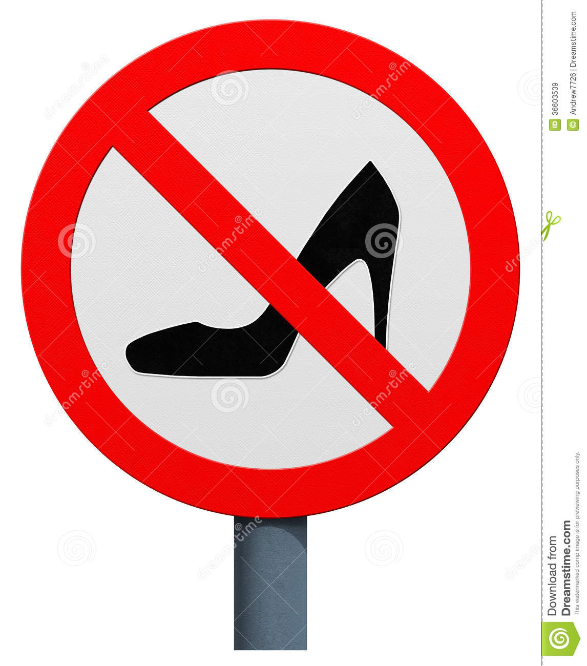 No High Heels Sign Royalty Free Stock Images Image 36603539
