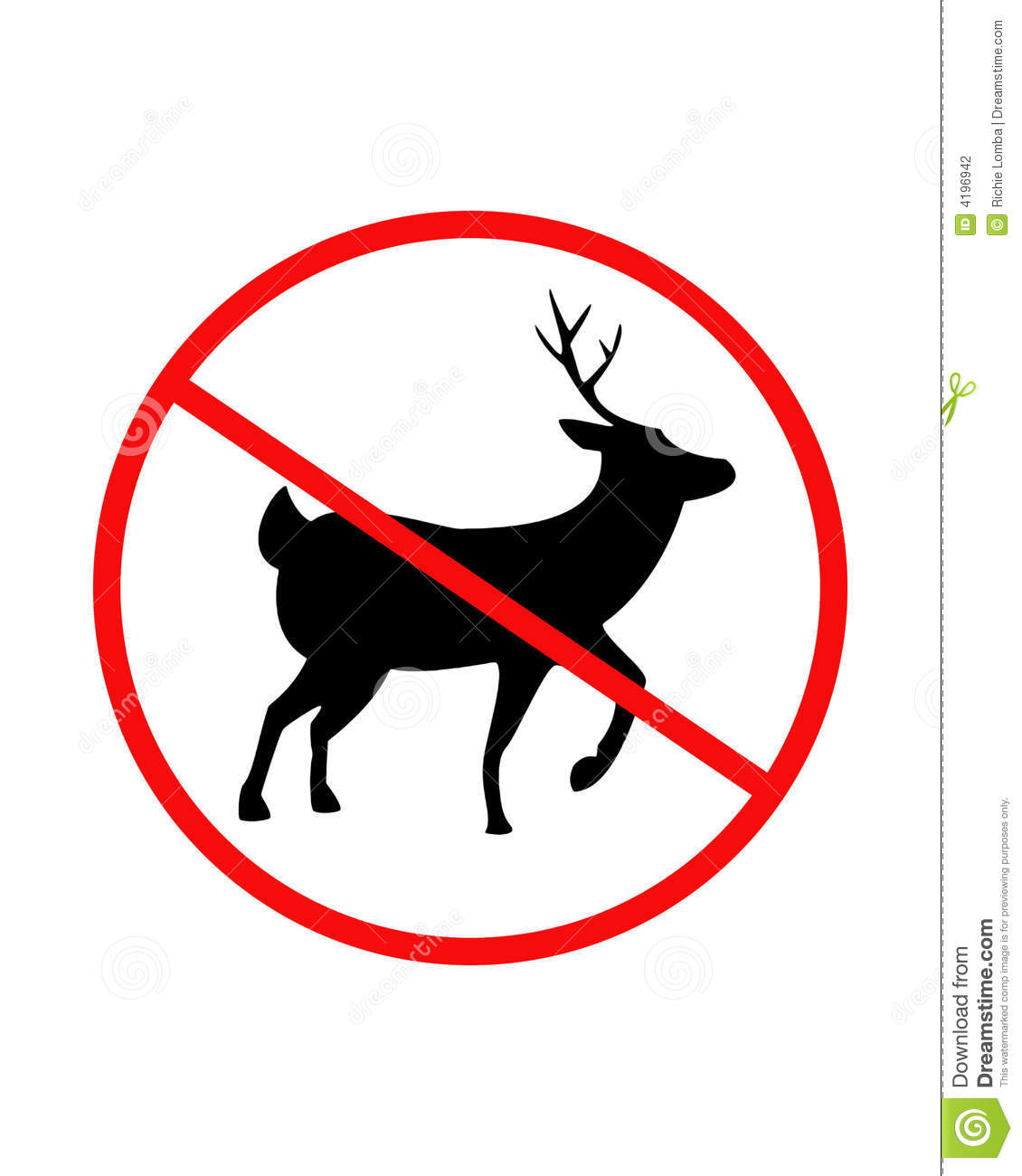 No Hunting Sign Stock Photography - Image: 4196942
