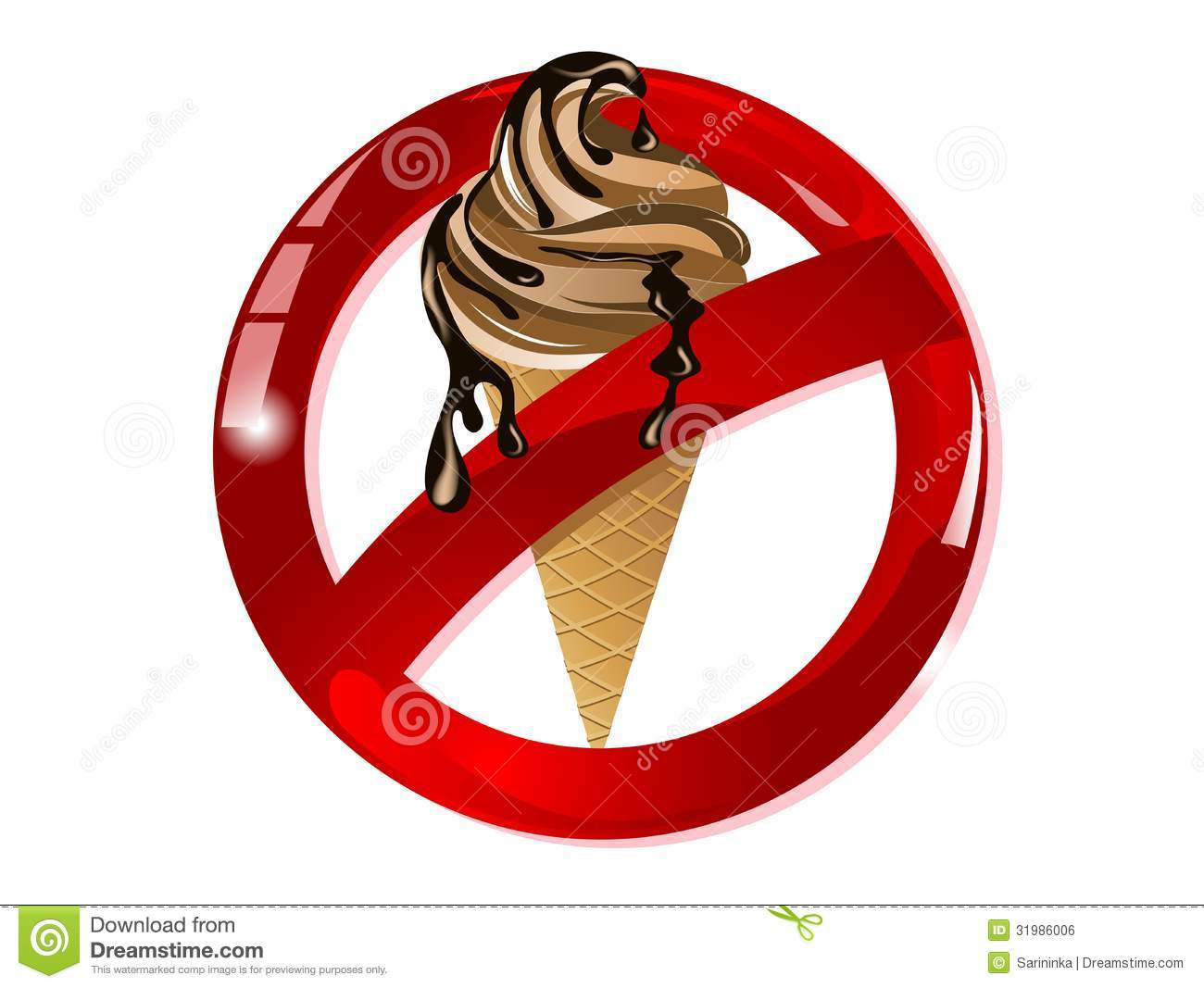 no ice cream stock vector illustration of restriction free ice cream clip art free ice cream clipart images
