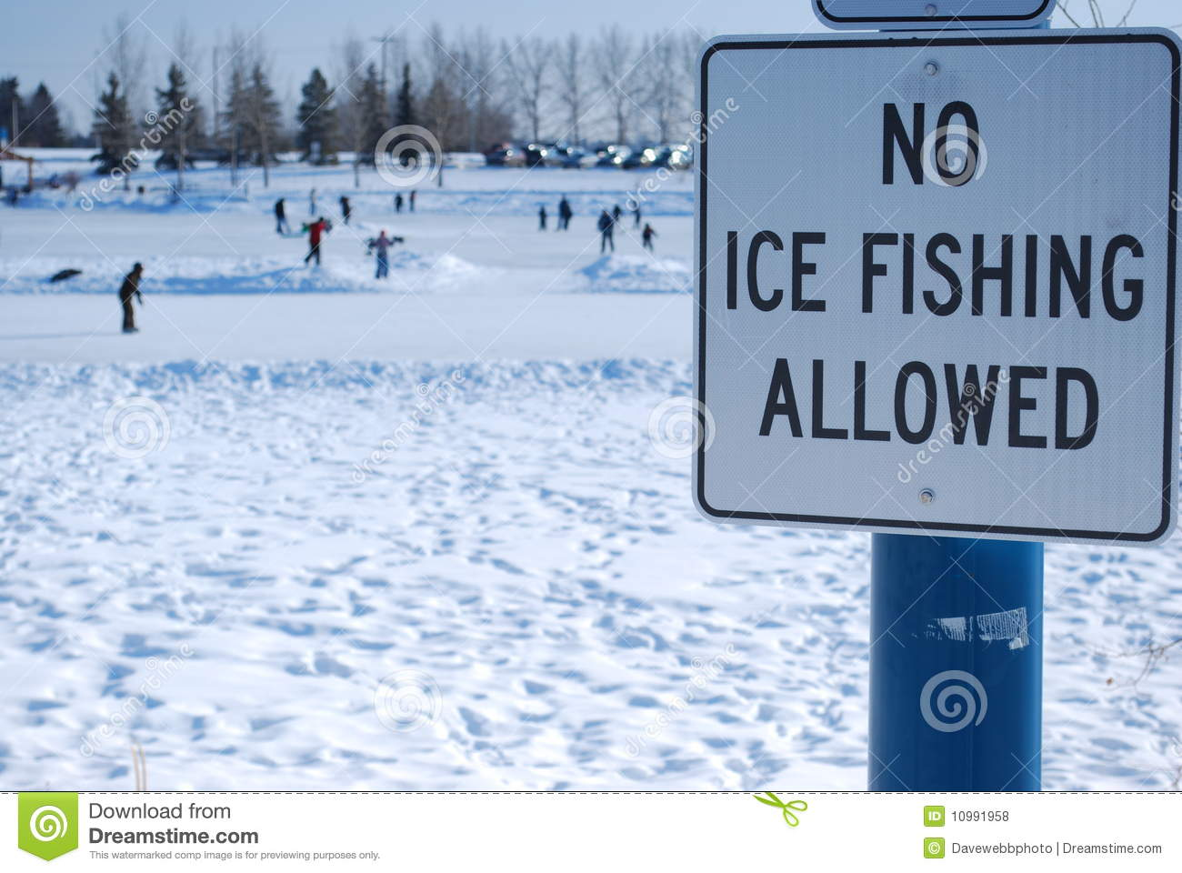 No ice fishing allowed stock photo image of outdoors for Canadian fishing license bc