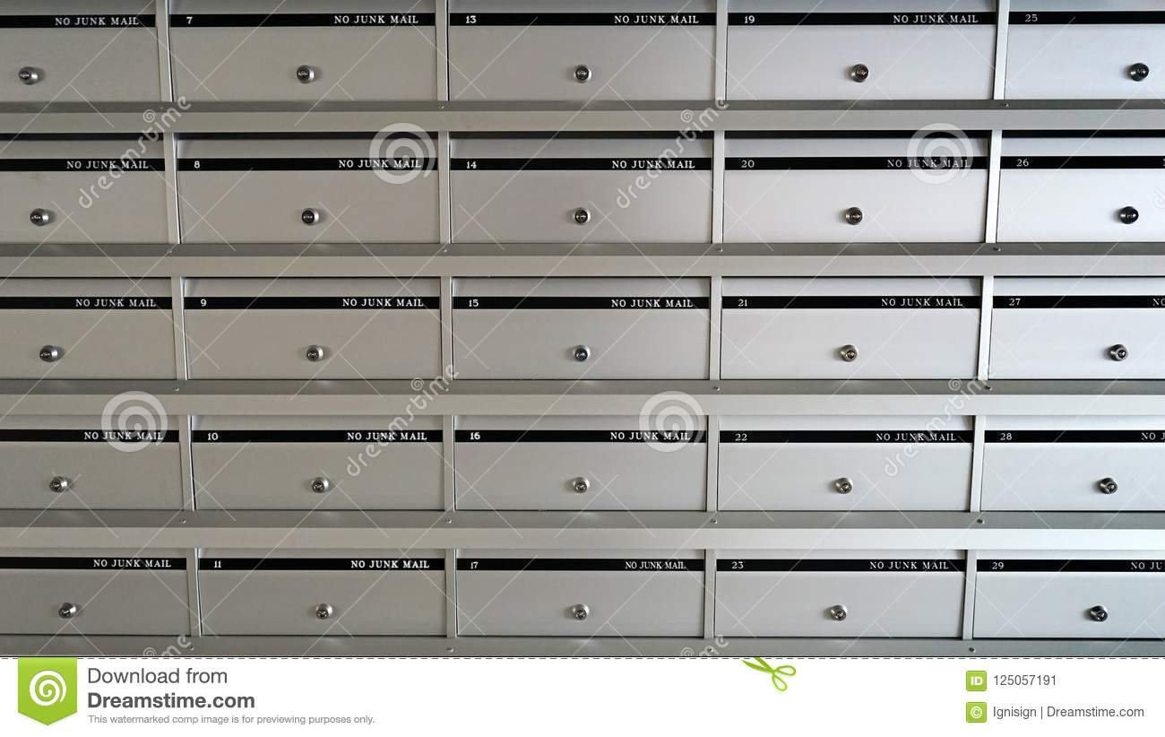 No Junk Mail, Silver Metal Mailbox Pattern With Lockable ...