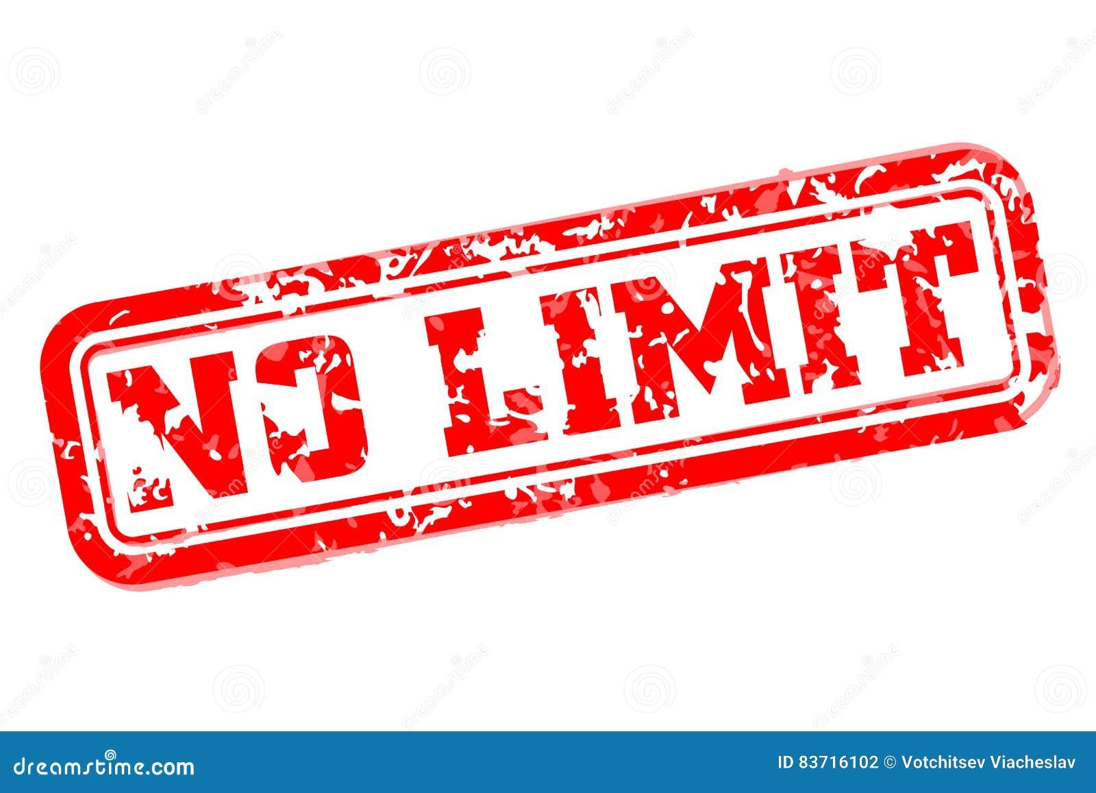 No Limit Rubber Stamp Vector Illustration | CartoonDealer ...