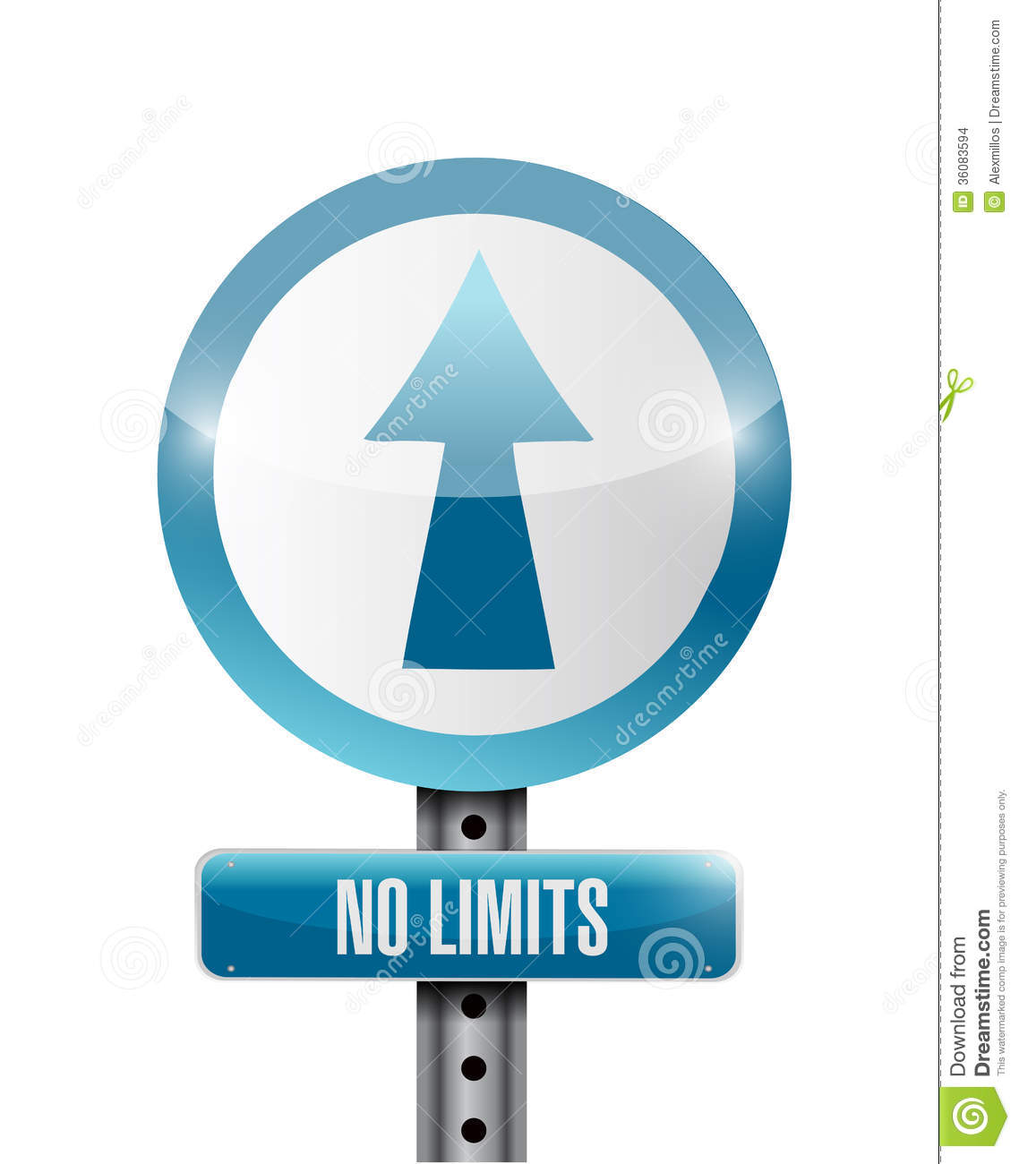 No Limits Road Sign Stock Images Image 36083594