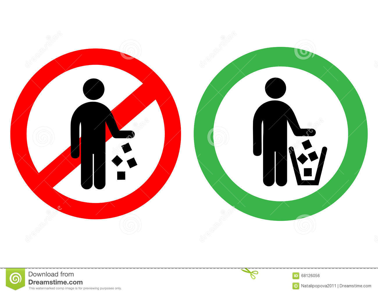No Littering Sign In Vector Stock Vector - Image: 68126056