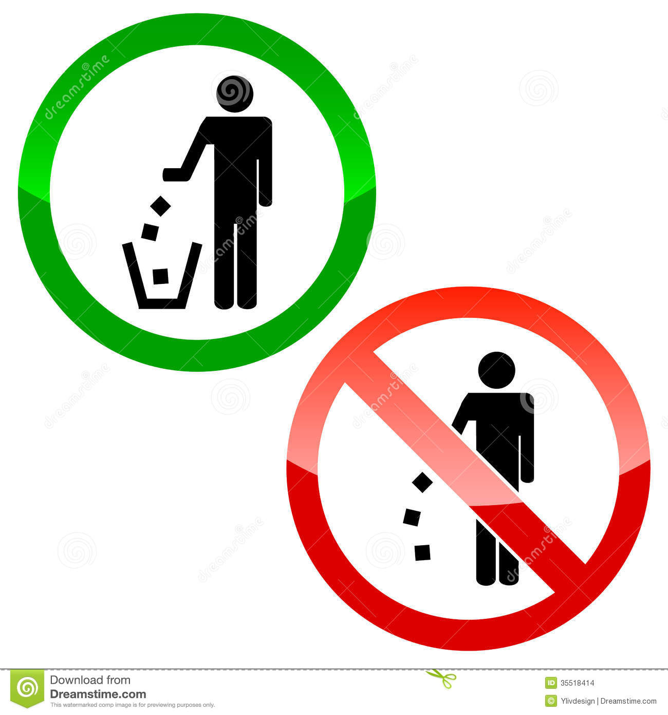 No Littering Triangle Signs Stock Images  Image: 35518414
