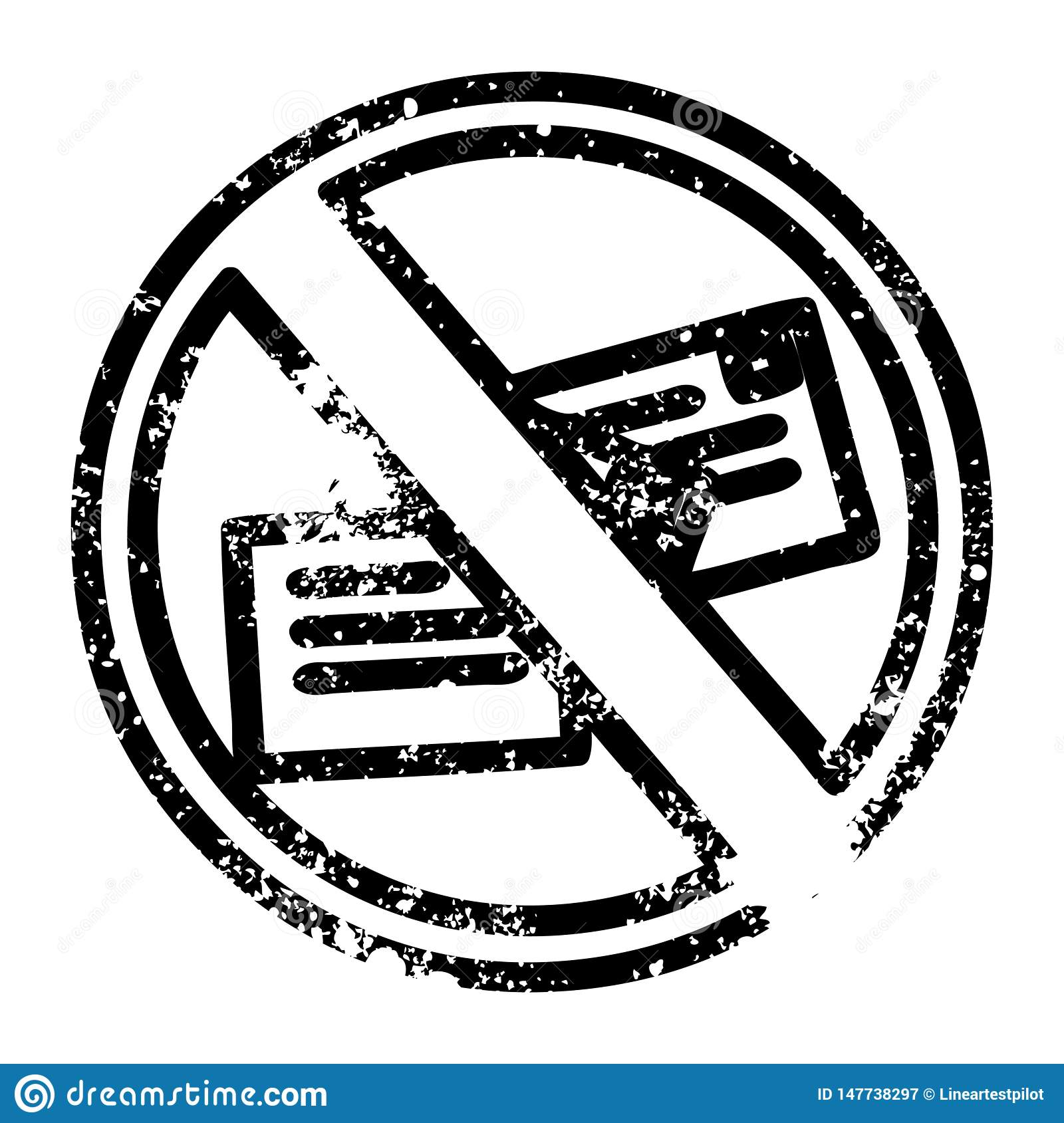 no mail distressed icon