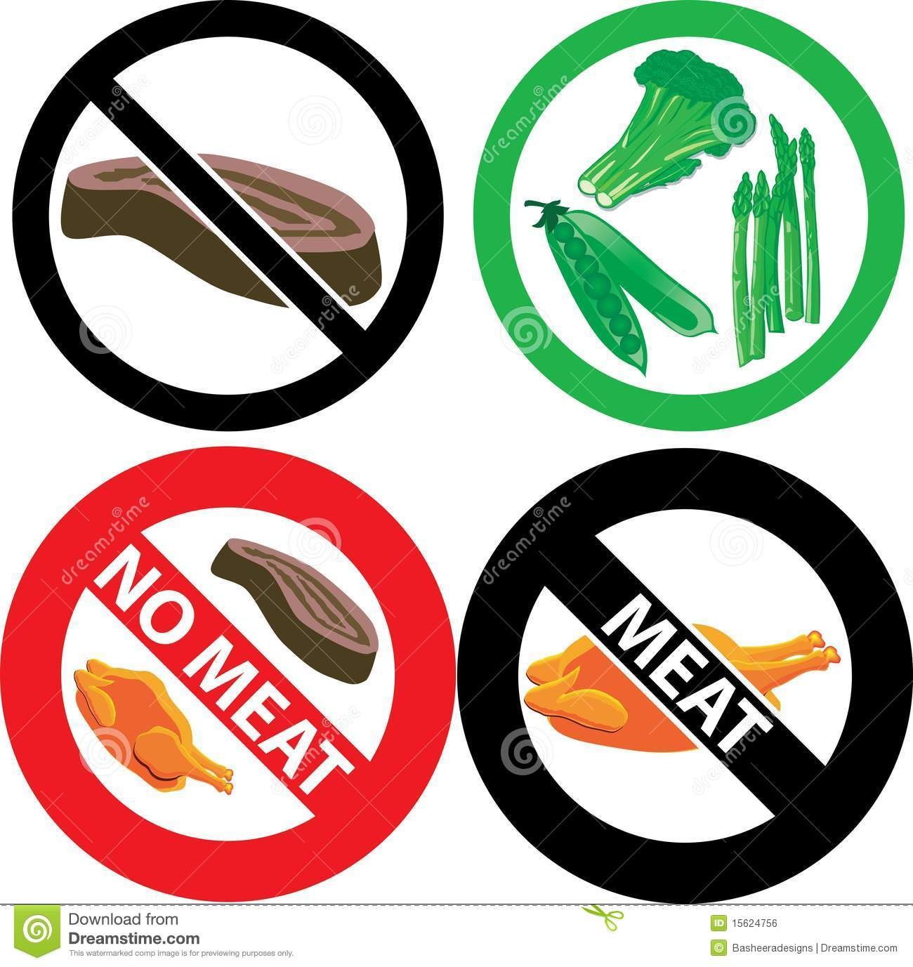 No meat sign stock vector illustration of chicken black 15624756 no meat sign buycottarizona Choice Image
