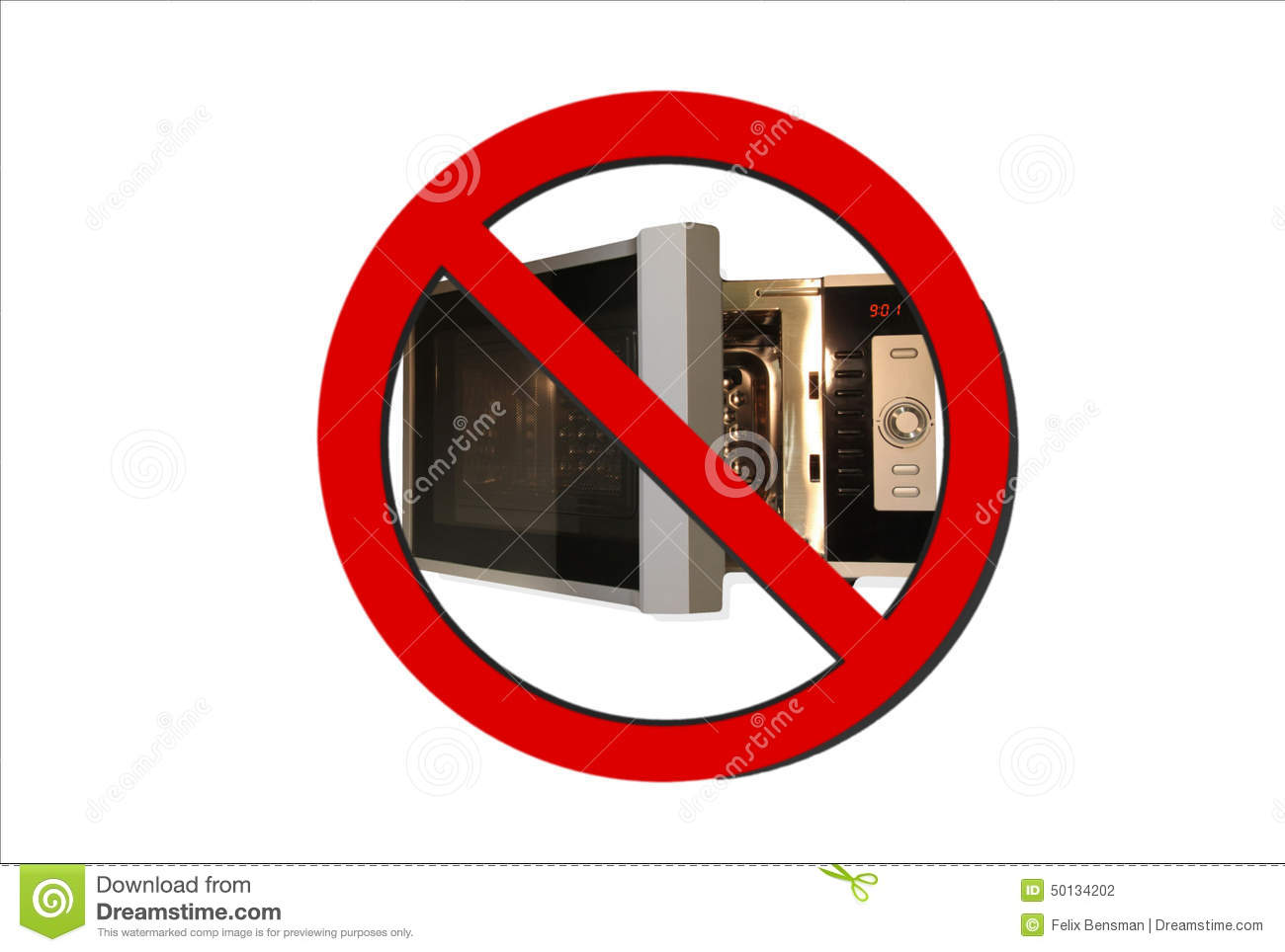 no microwave sign stock illustration image 50134202. Black Bedroom Furniture Sets. Home Design Ideas