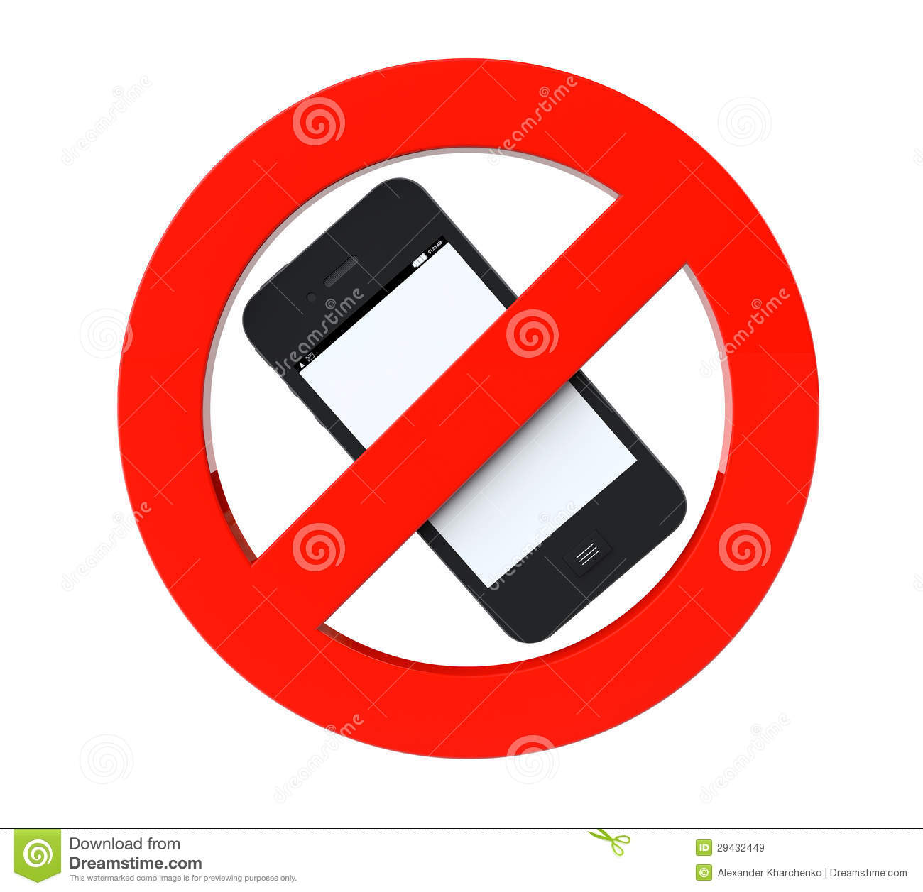 No Mobile Phone Sign Royalty Free Stock Images - Image: 29432449