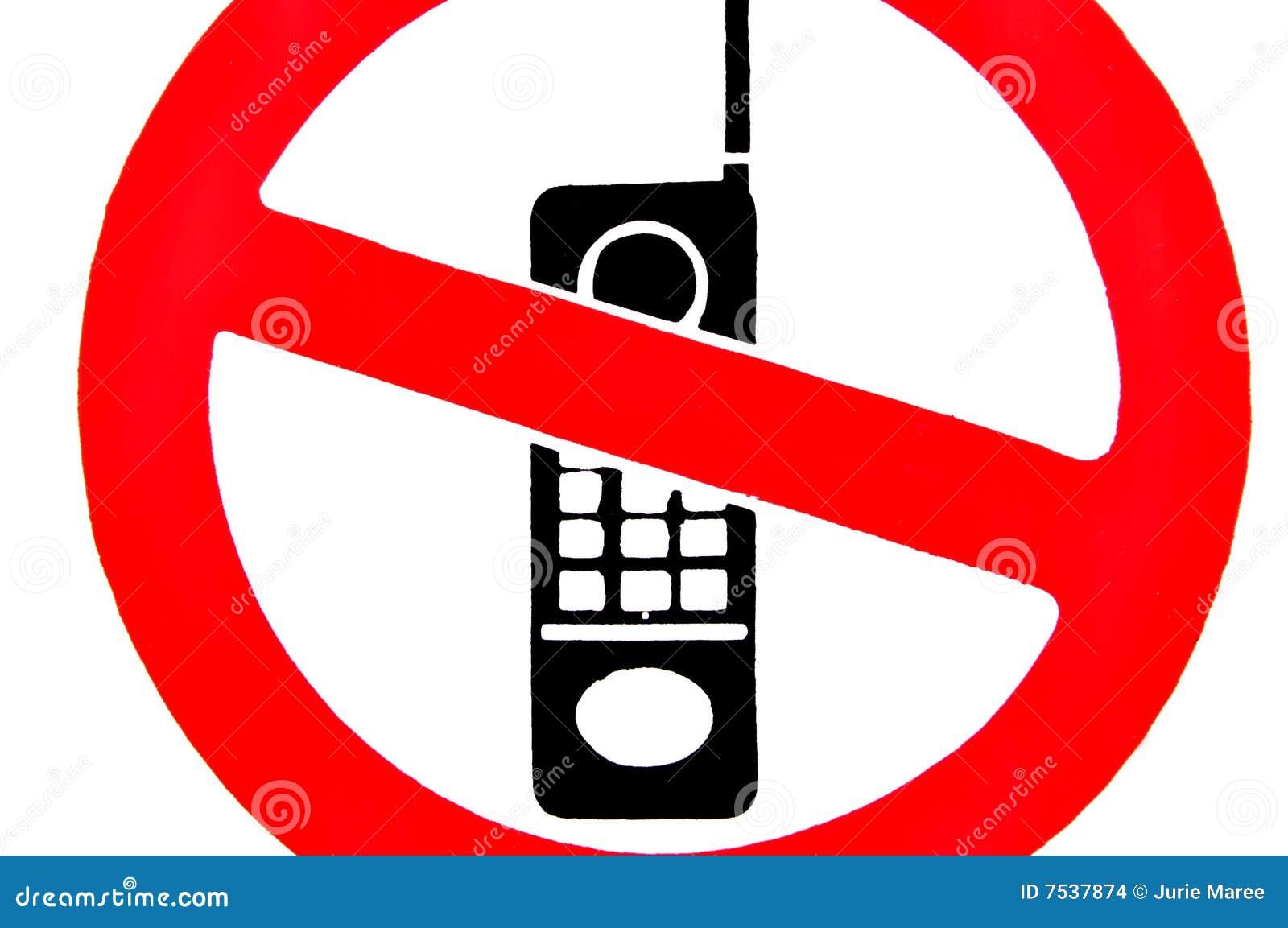 no mobile phones  stock illustration  illustration of