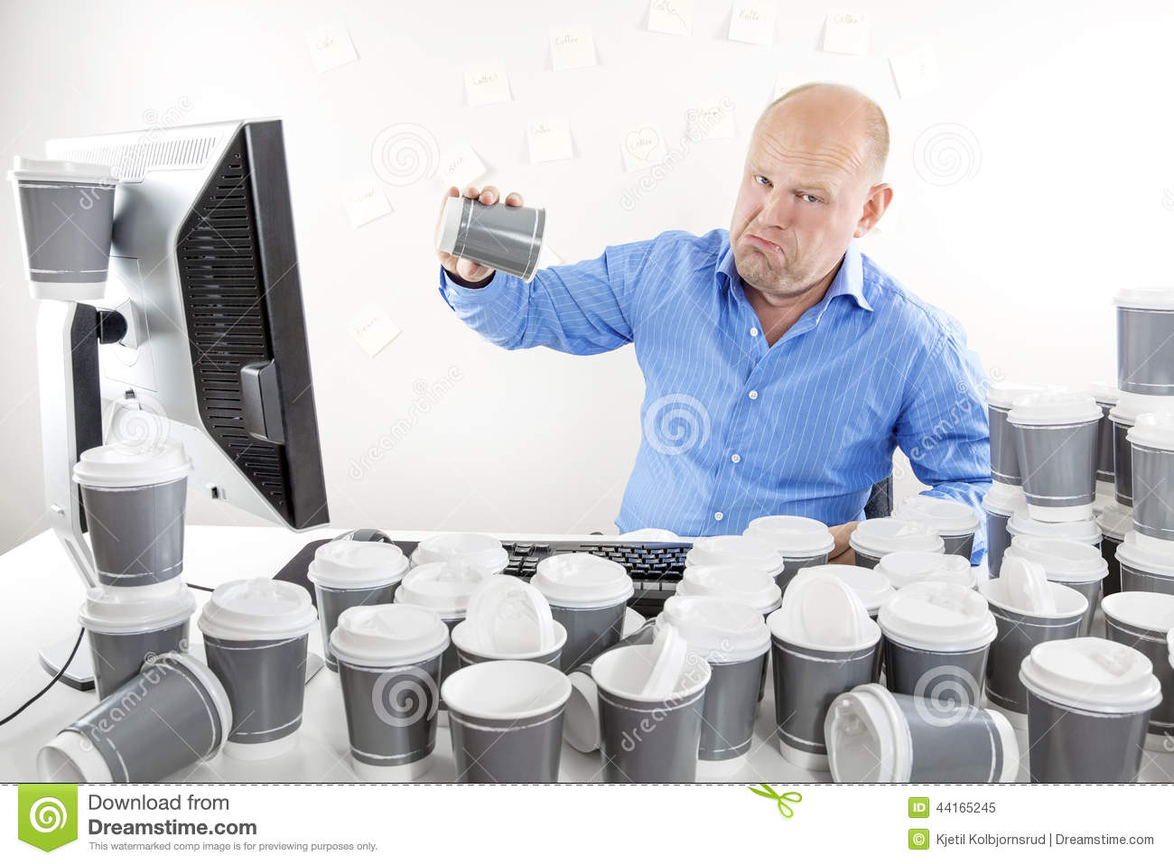 no more coffee for tired and sad businessman stock photo Tired Animal Clip Art Tired Worker Cartoon
