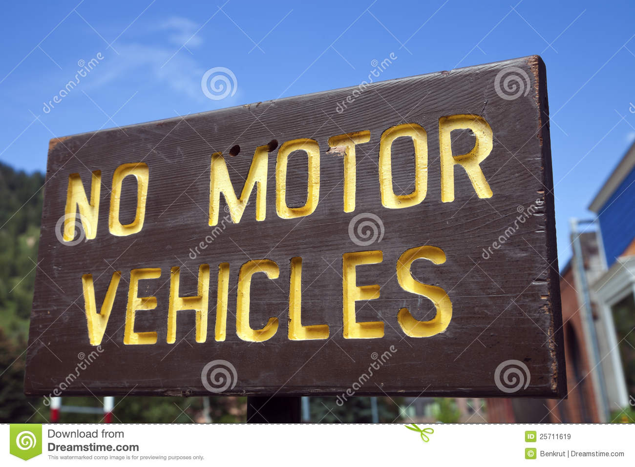 No Motor Vehicles Royalty Free Stock Images Image 25711619