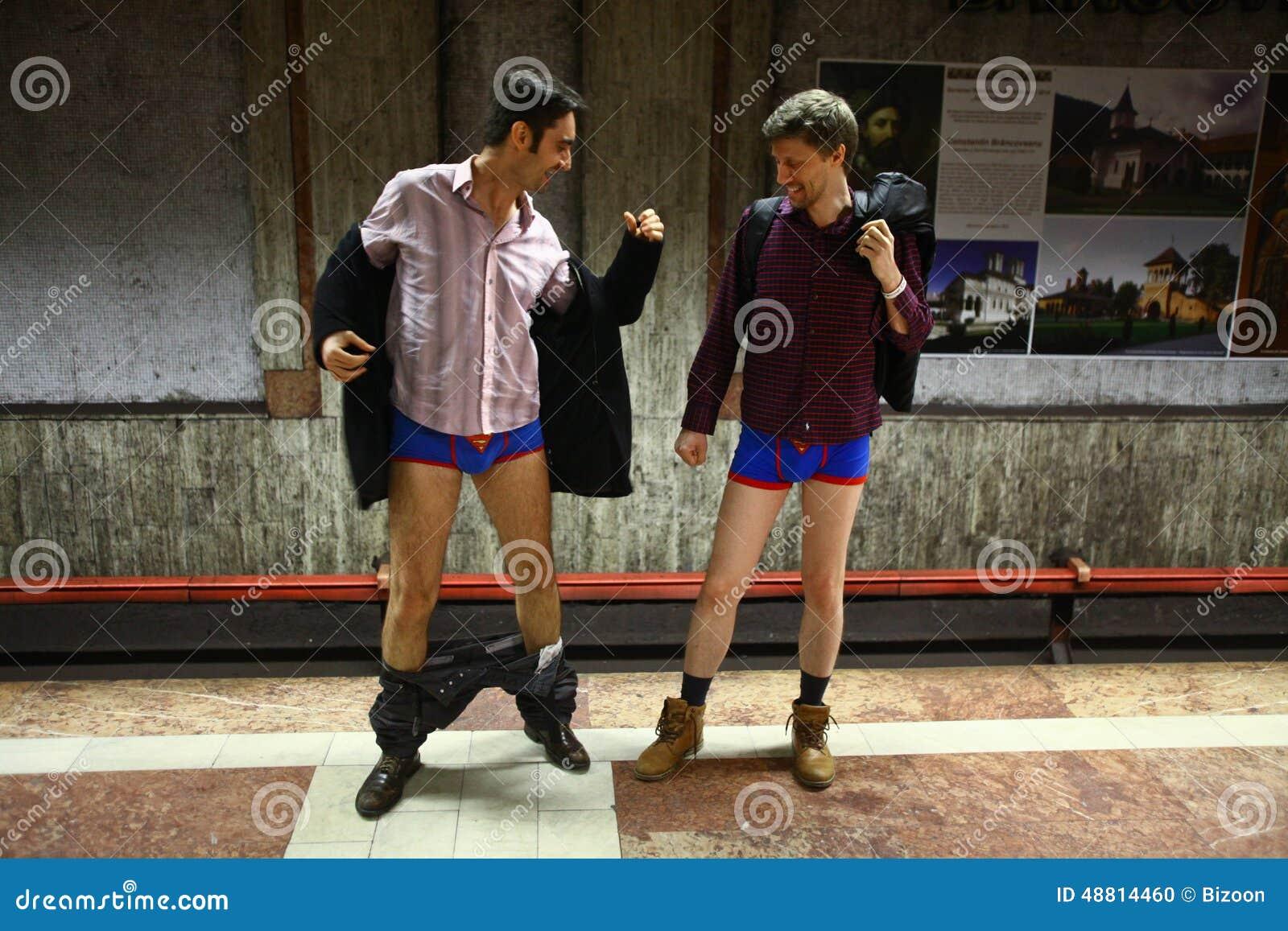 No Pants Subway Ride I... Subway Vector