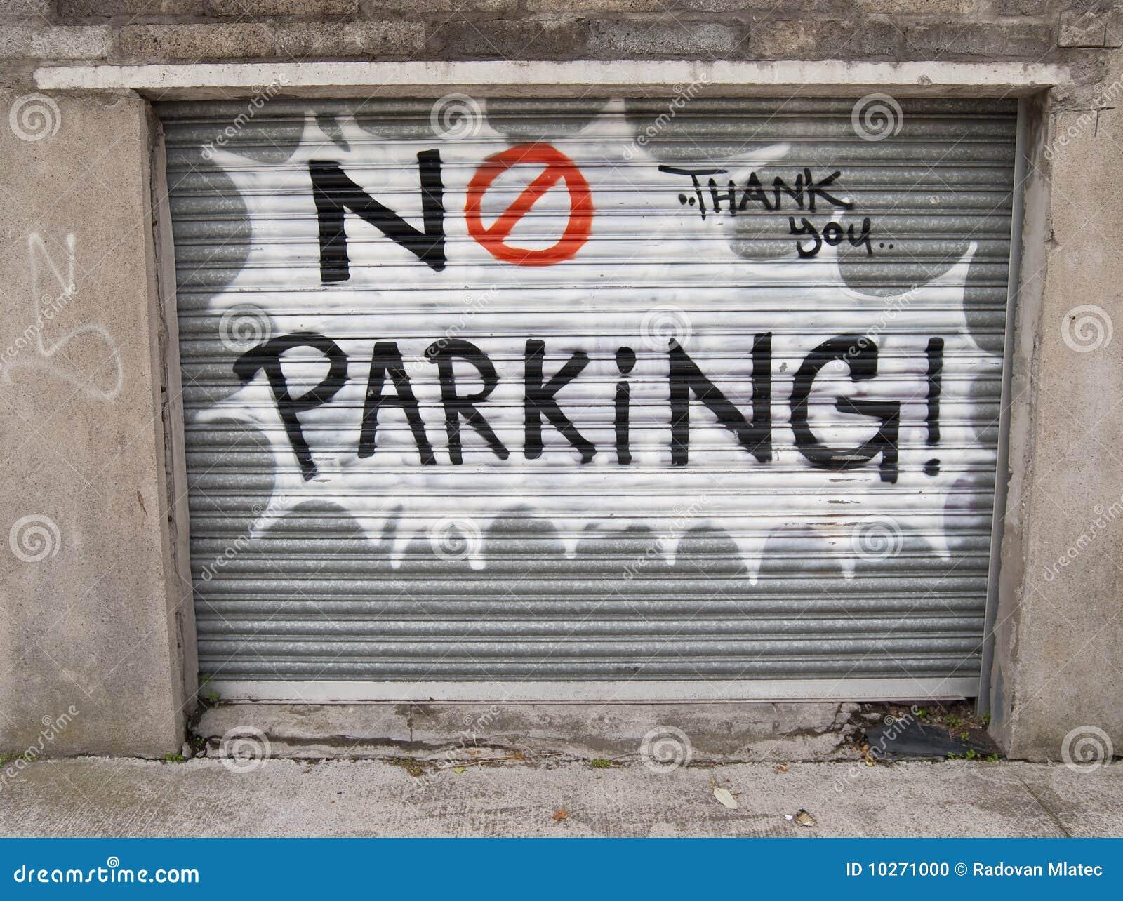 No Parking Graffiti Stock Photo Image 10271000