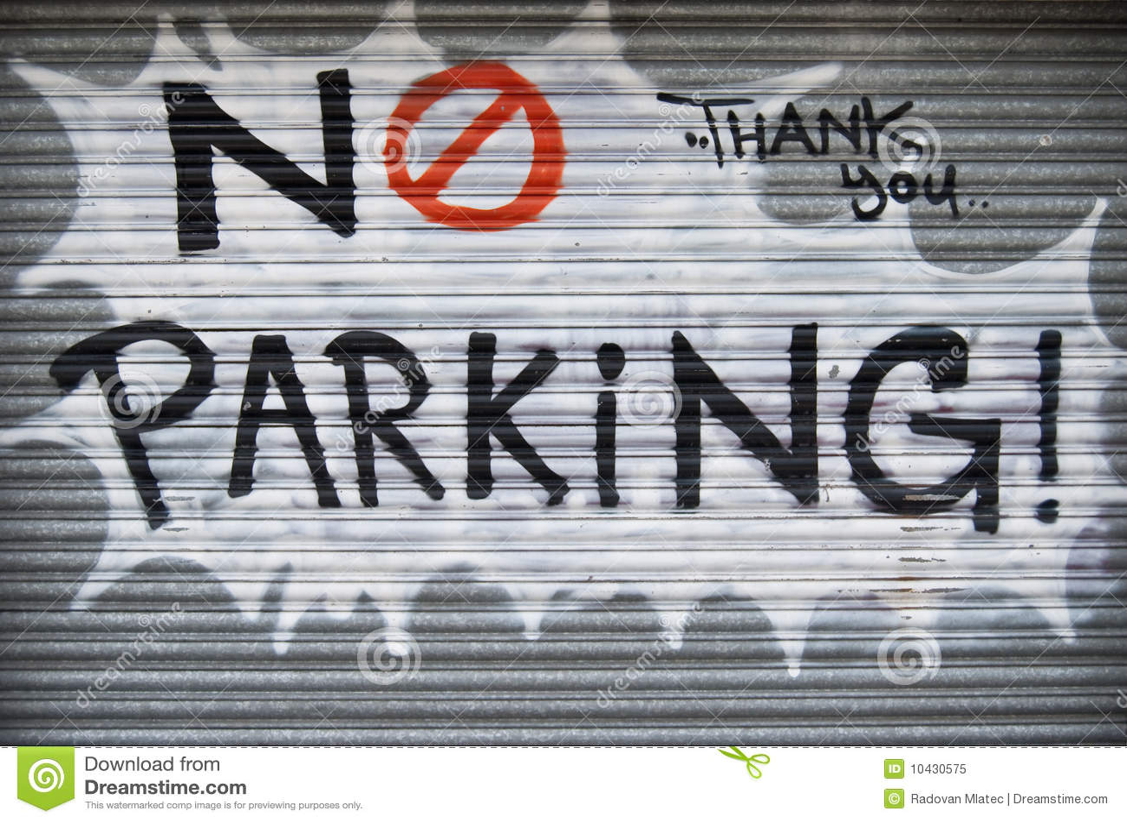 No parking graffiti