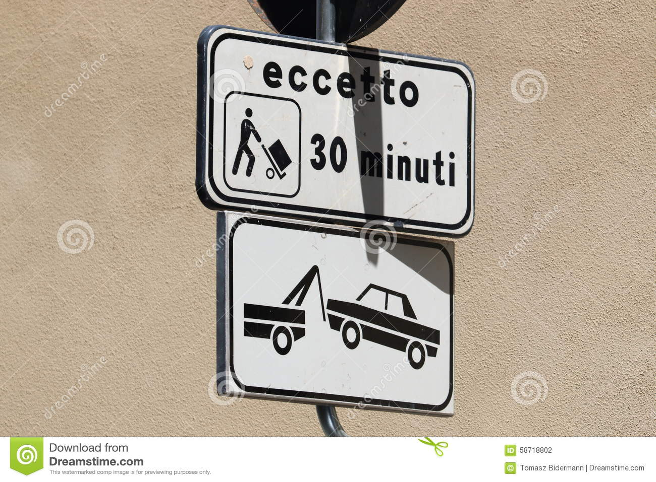 Car Parking Signs Italy