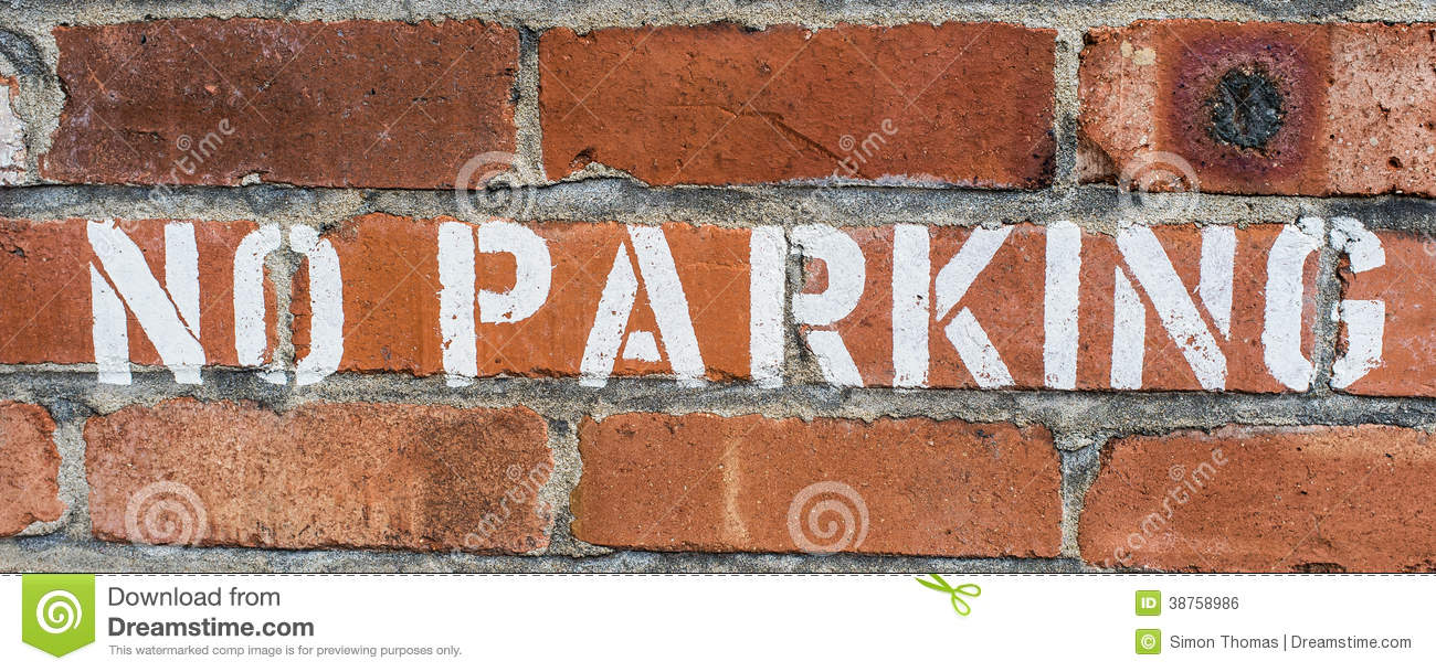 Stencil brick wall image collections home wall decoration ideas no parking stock photo image of stencilled background 38758986 royalty free stock photo amipublicfo image collections amipublicfo Images