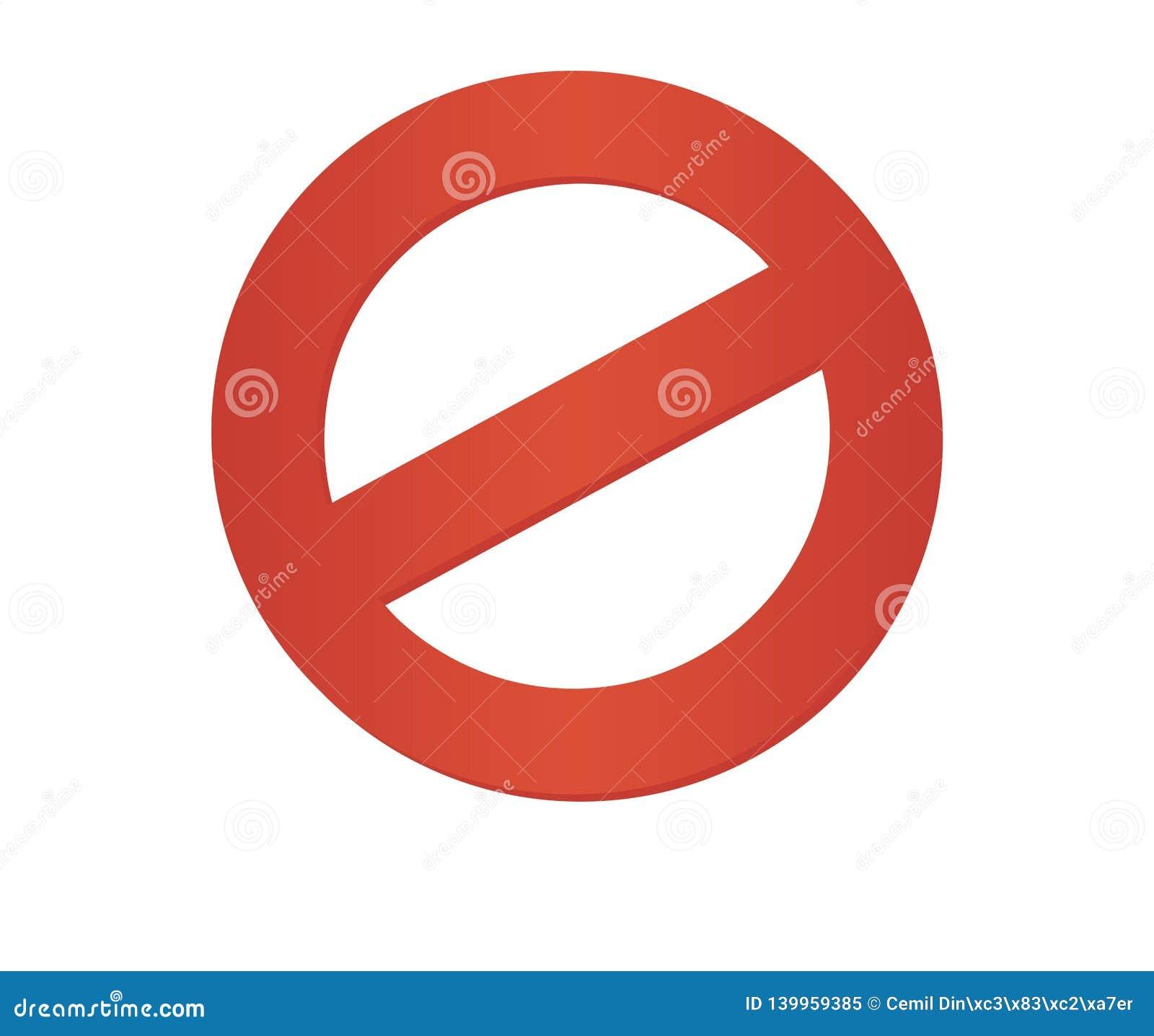Do Not Enter Road Sign Sedan Red Cartoon Vector